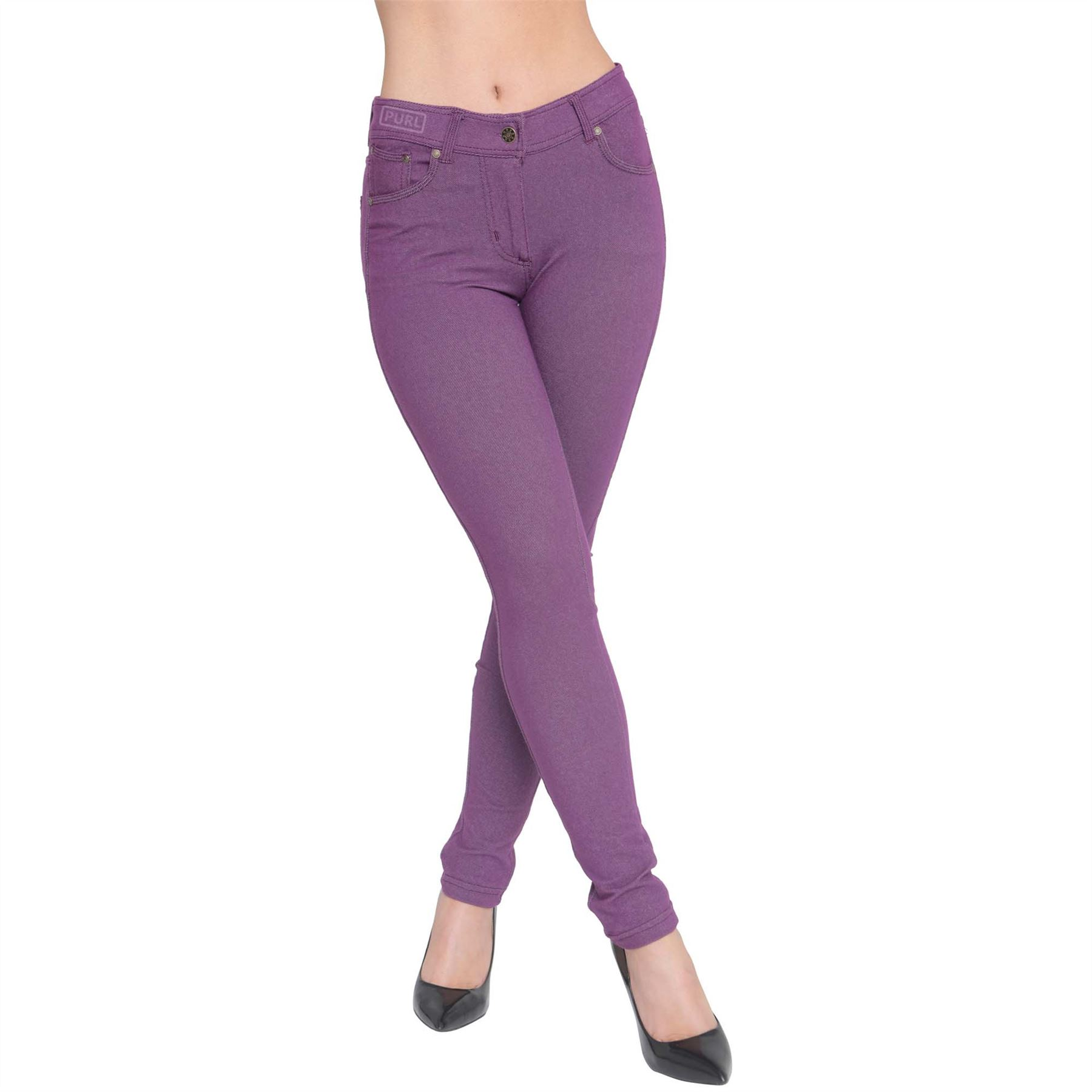 Womens-Skinny-Jeans-Fit-Coloured-Jeggings-Stretchy-Trousers-Summer-Size-8-26