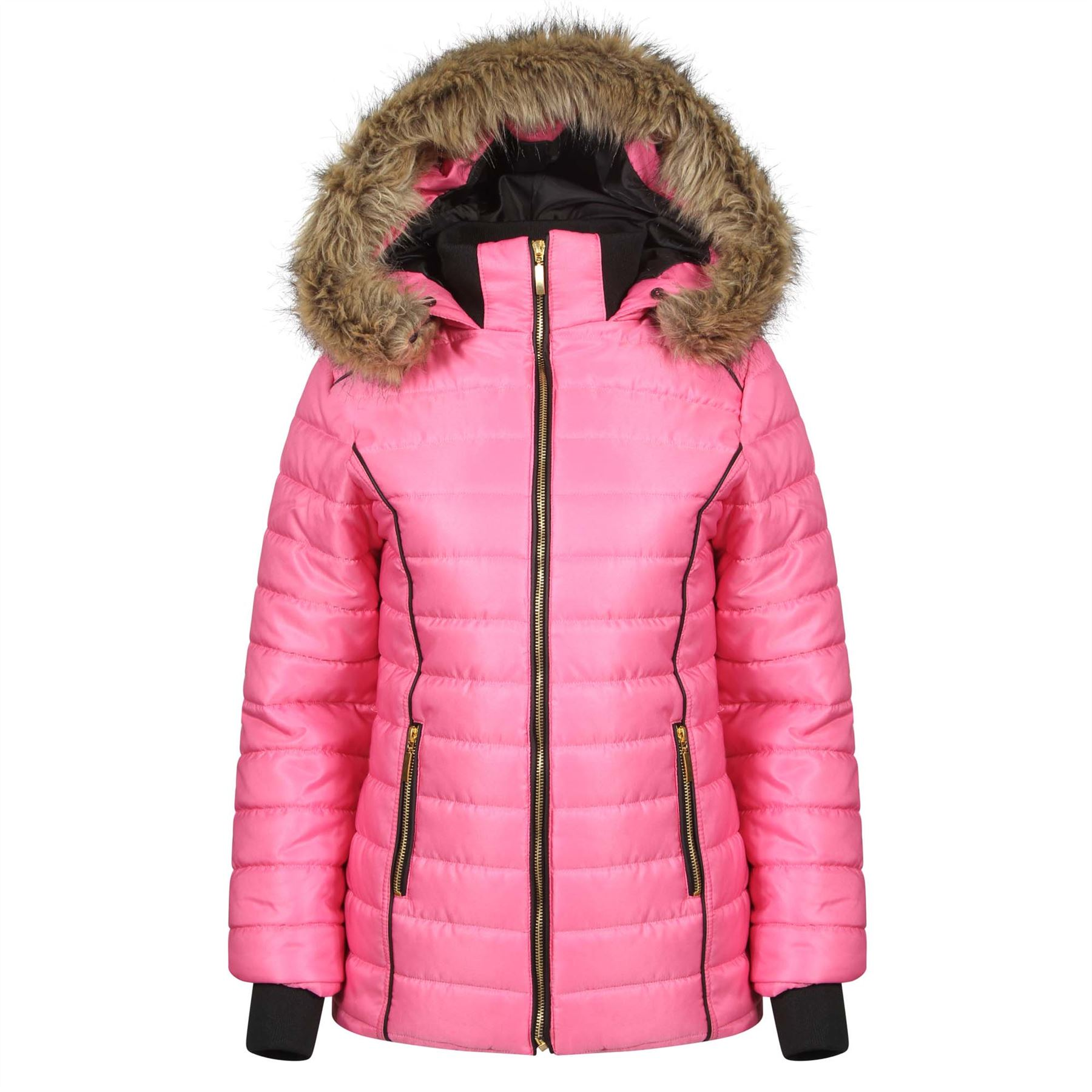 Ladies quilted puffer jacket