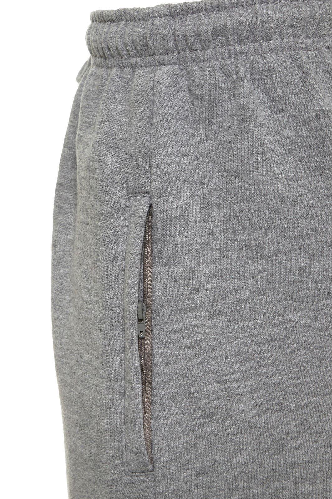 Uomo-Casual-Tinta-Unita-Pantaloni-sportivi-Bottoms-Apri-Hem-Sudore-Pantaloni-Tasche-Con-Zip miniatura 9