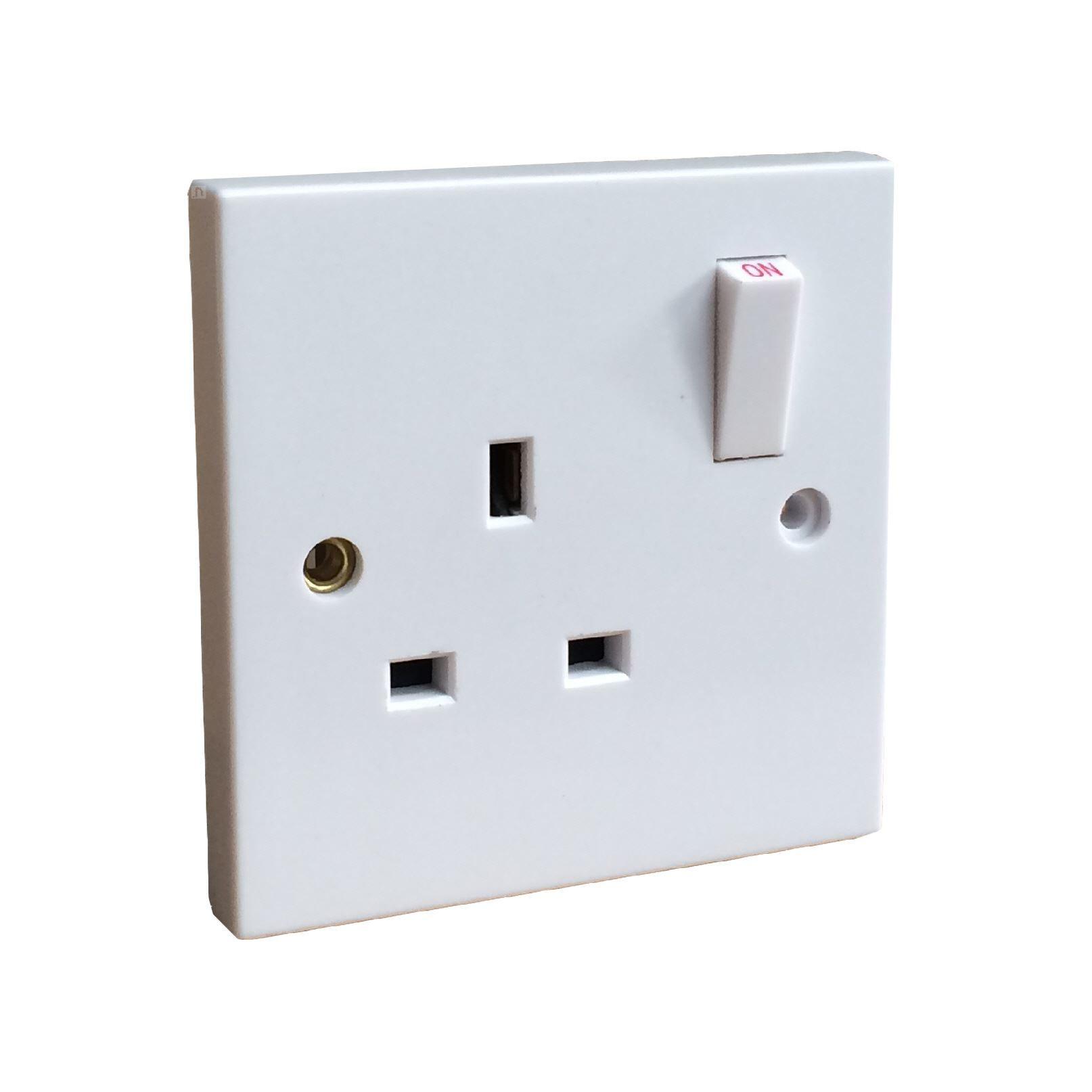 White Electrical Wall Sockets, Switches & Cooker Spurs. Square Edge ...