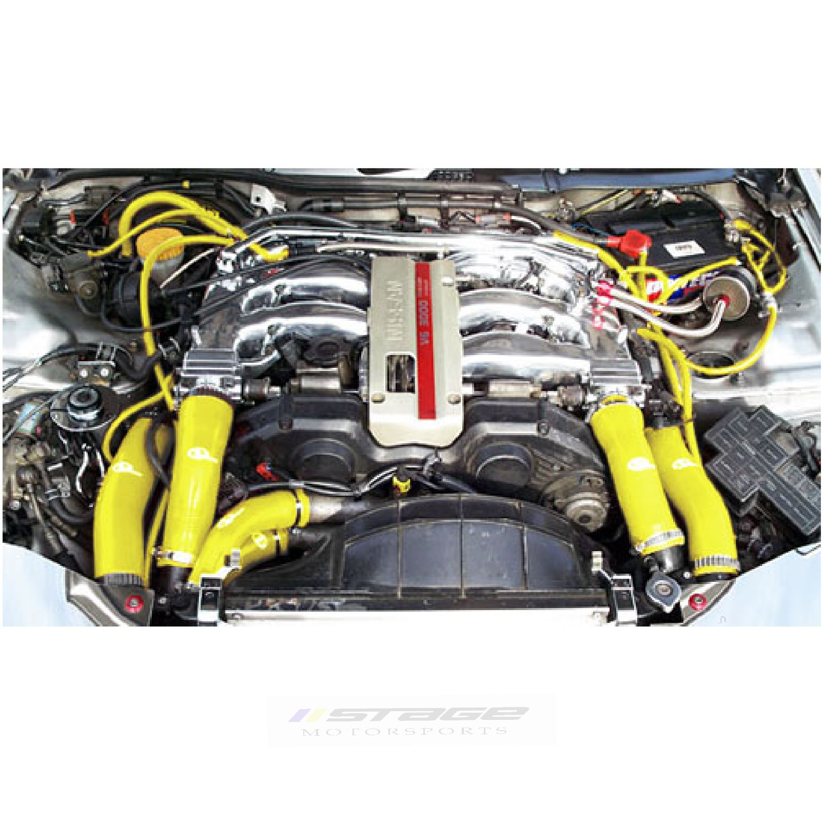 Vw Golf Mk4 1 8t Yellow Engine Bay Silicone Hose Car