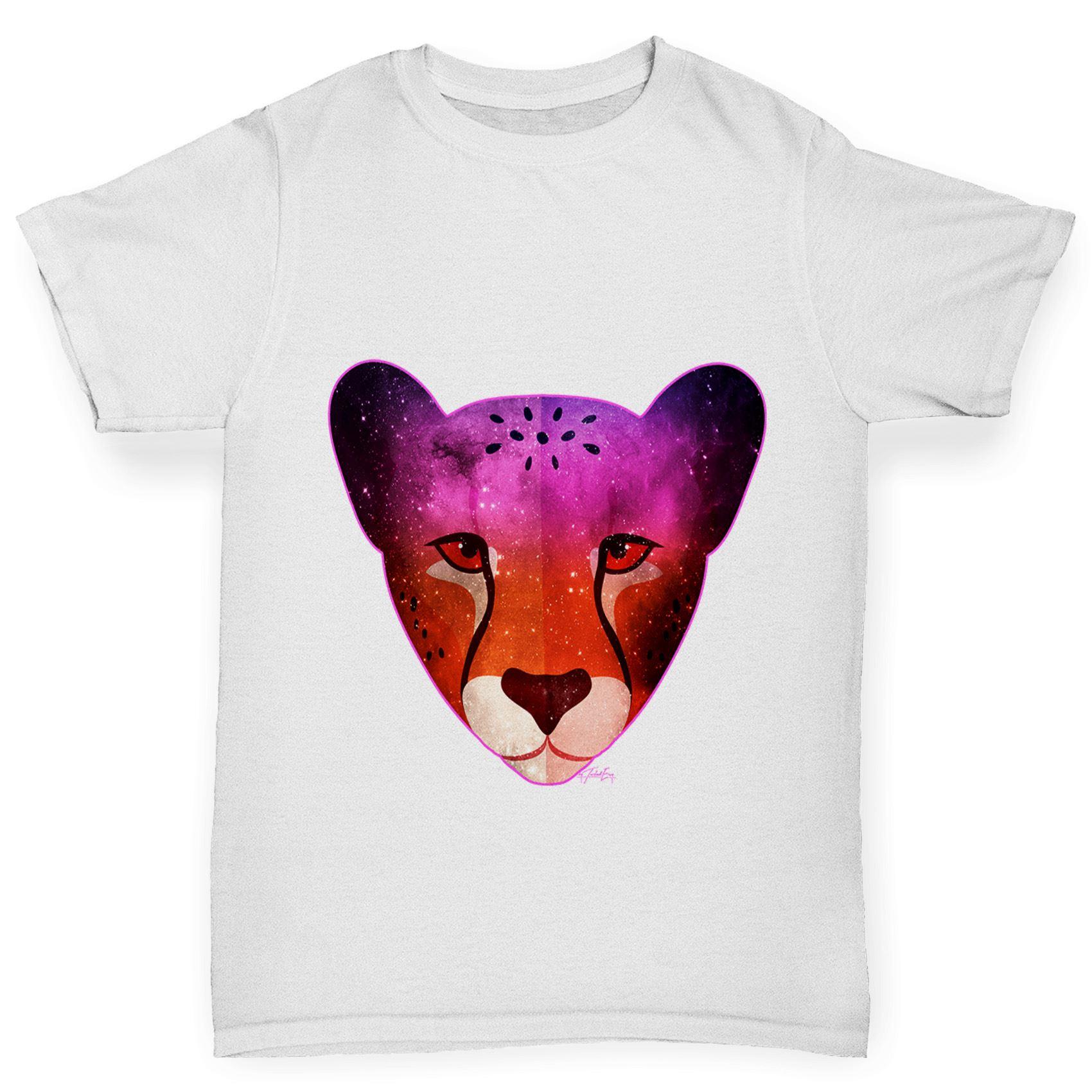 Twisted Envy Boy/'s Galaxy Zebra Head Printed Cotton T-Shirt
