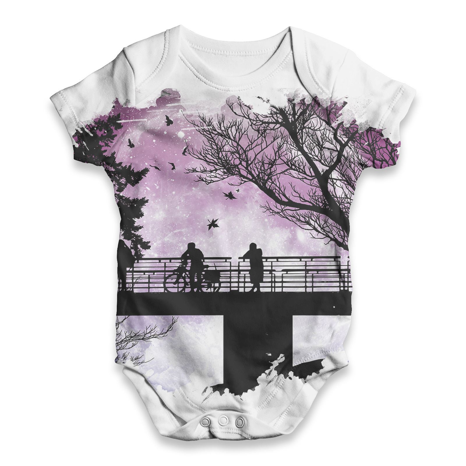Twisted Envy Paint Drips Baby Unisex Funny ALL-OVER PRINT Baby Grow Bodysuit