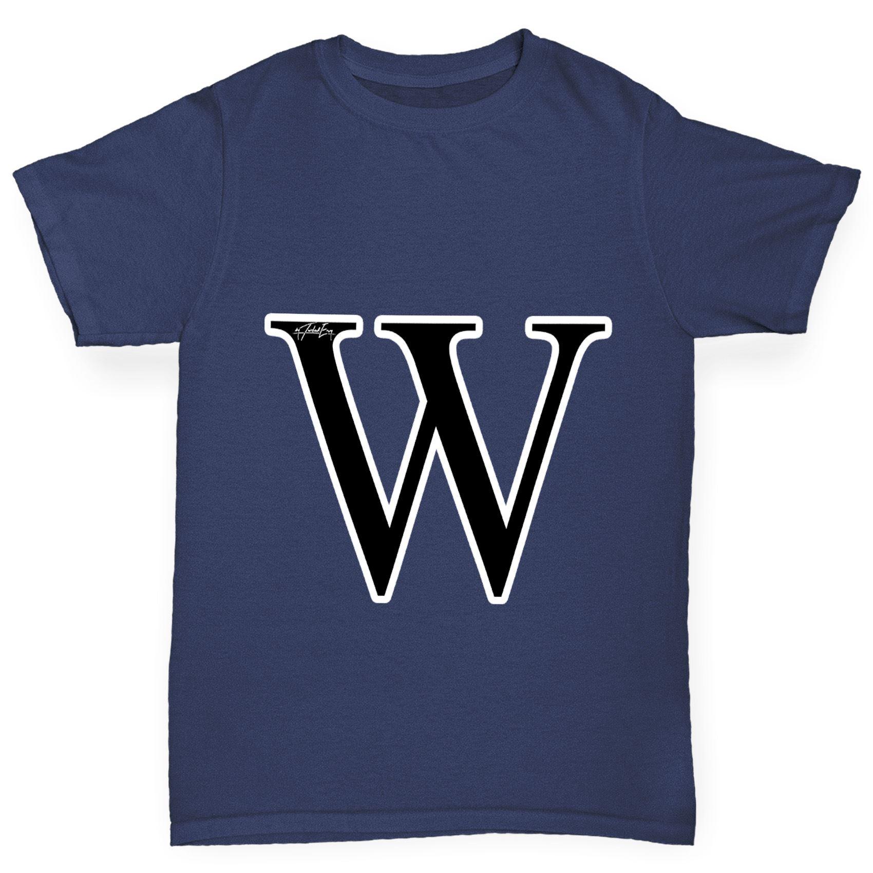 Twisted Envy Men/'s Alphabet Monogram Letter W T-Shirt