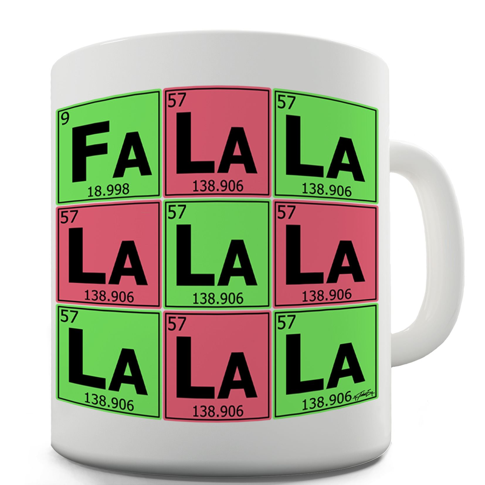 Twisted Envy Periodic Table Fa La La La La Ceramic Mug
