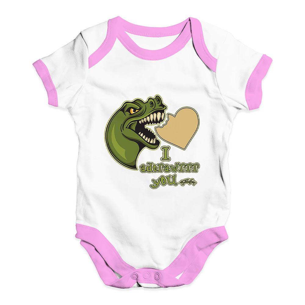 Twisted Envy Dinosaur I Adorawrrr You Baby Unisex Funny Baby Grow Bodysuit