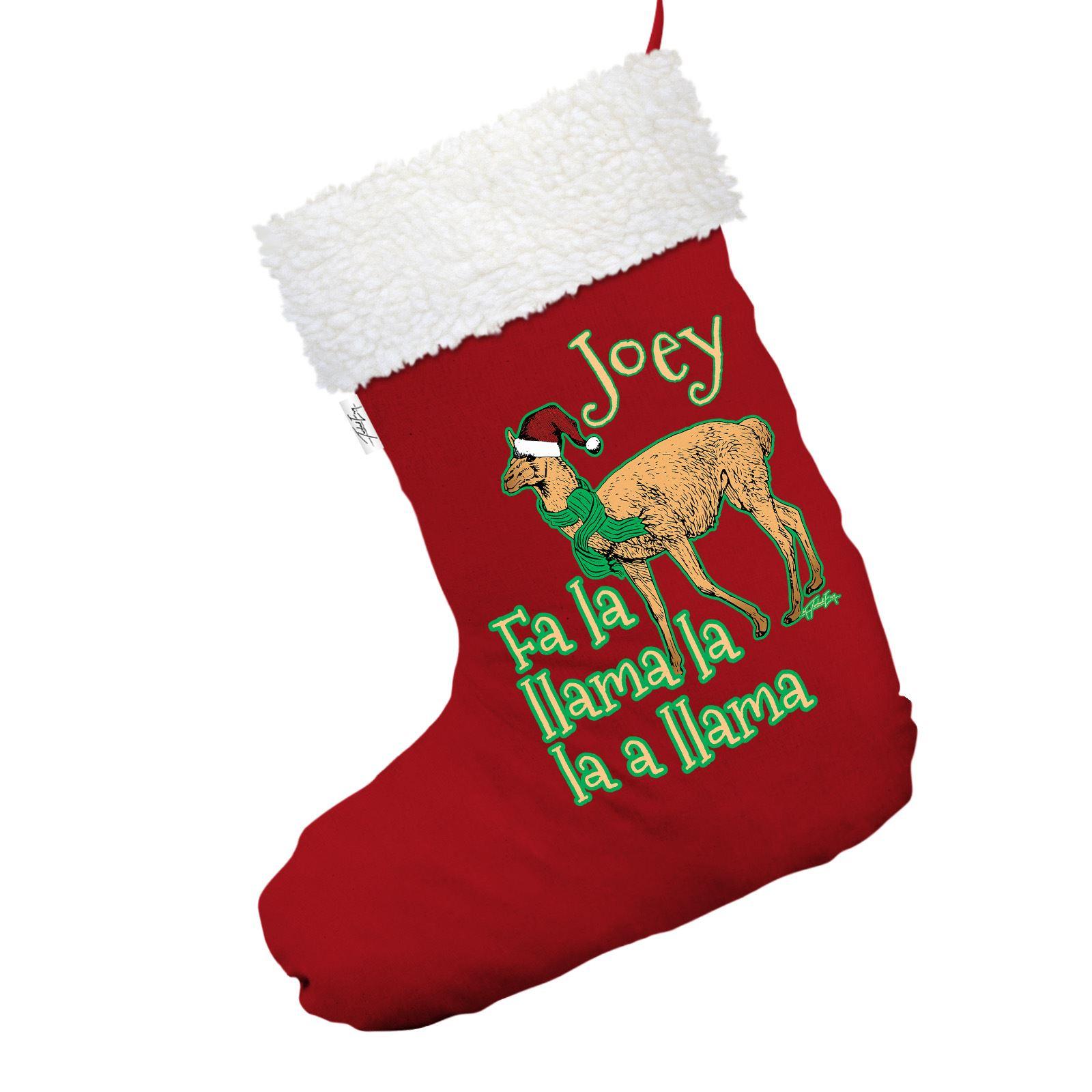 Llama Christmas Stocking.Details About Fa La Llama Personalised Red Christmas Stocking With White Faux Fur Trim