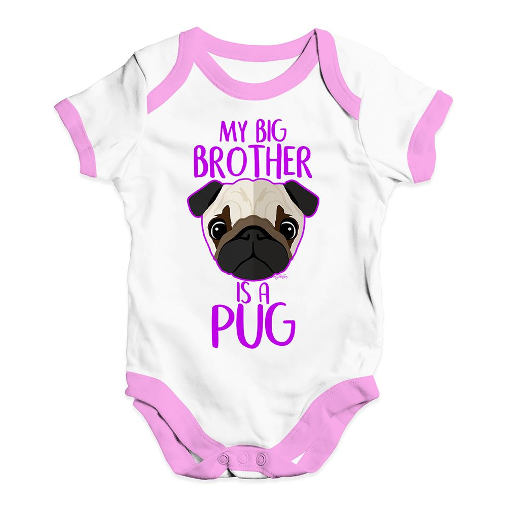 My Big Brother Is A Yorkshire Terrier Blue or Pink Baby Bodysuit or Sister