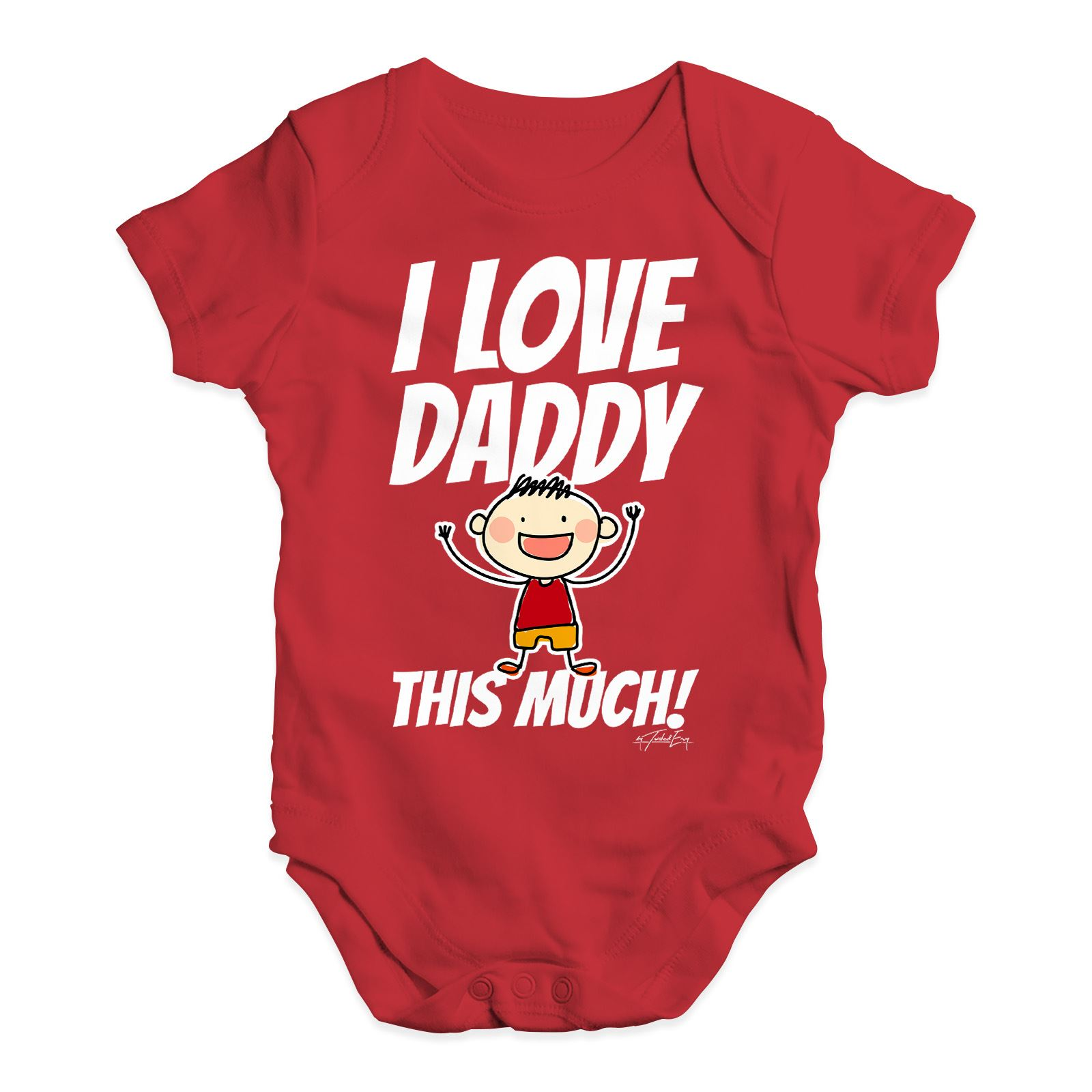 Twisted Envy I Love Daddy This Much Boy Baby Uni Funny Baby Grow