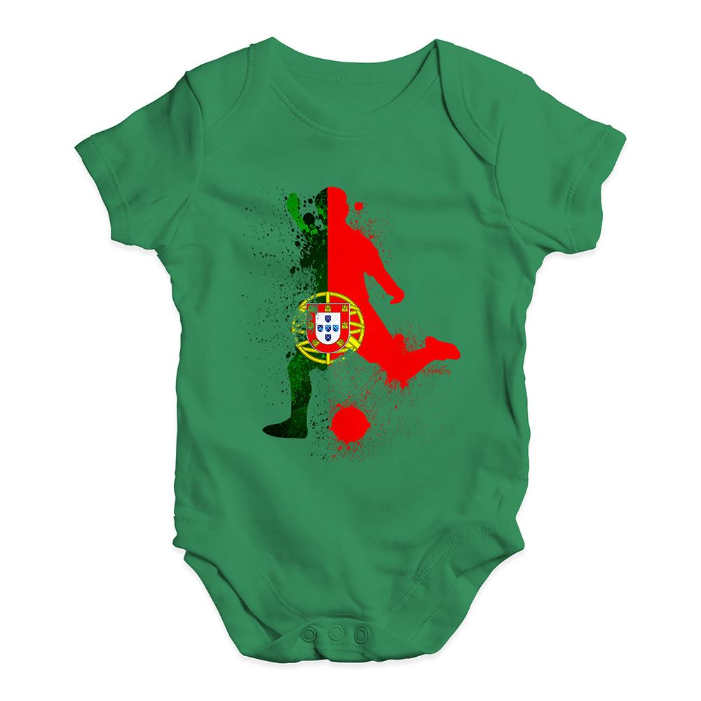 Baby Clothes Football Soccer Silhouette Portugal Baby Unisex Baby