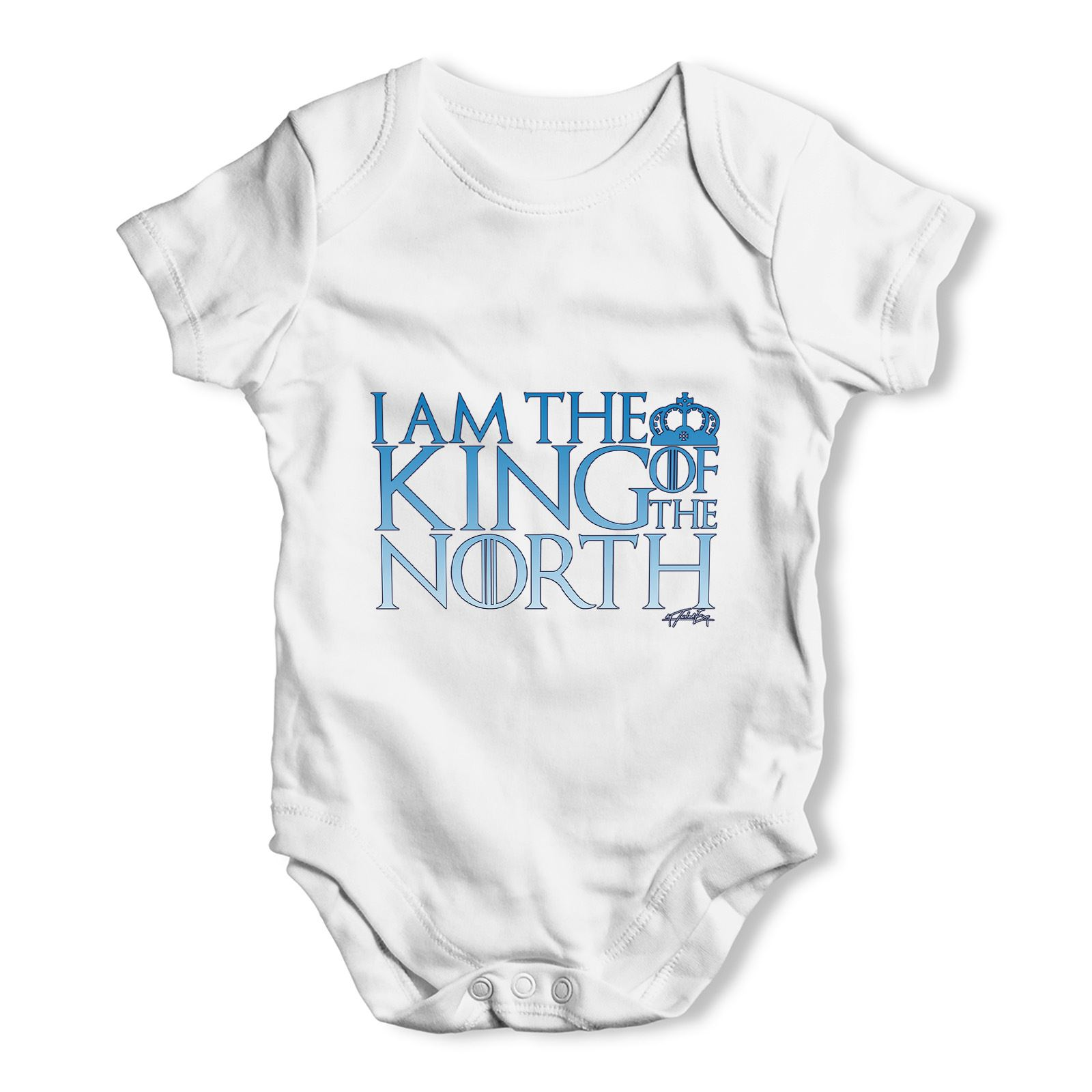 Twisted Envy King Of The North Crown Baby Unisex Funny Baby Grow Bodysuit