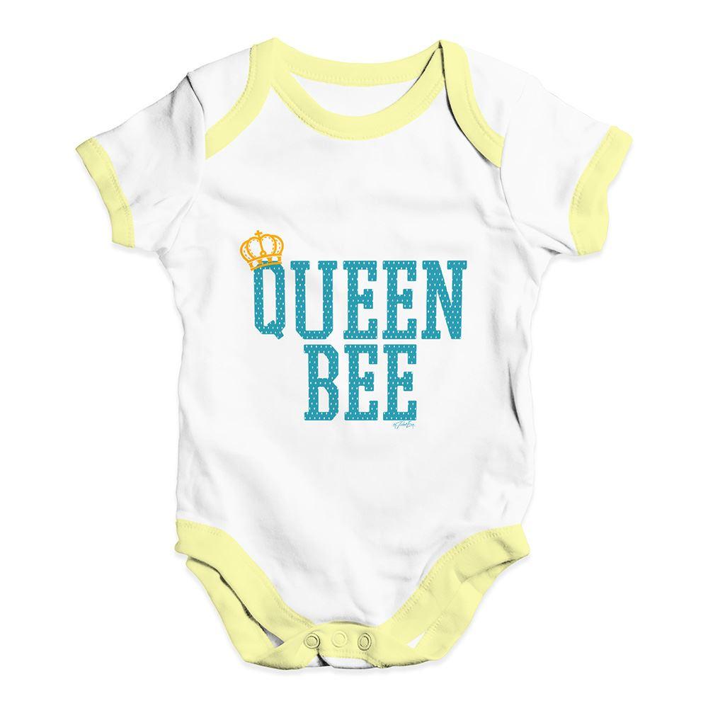 TWISTED ENVY Queen Bee Baby Unisex Funny Baby Grow Bodysuit