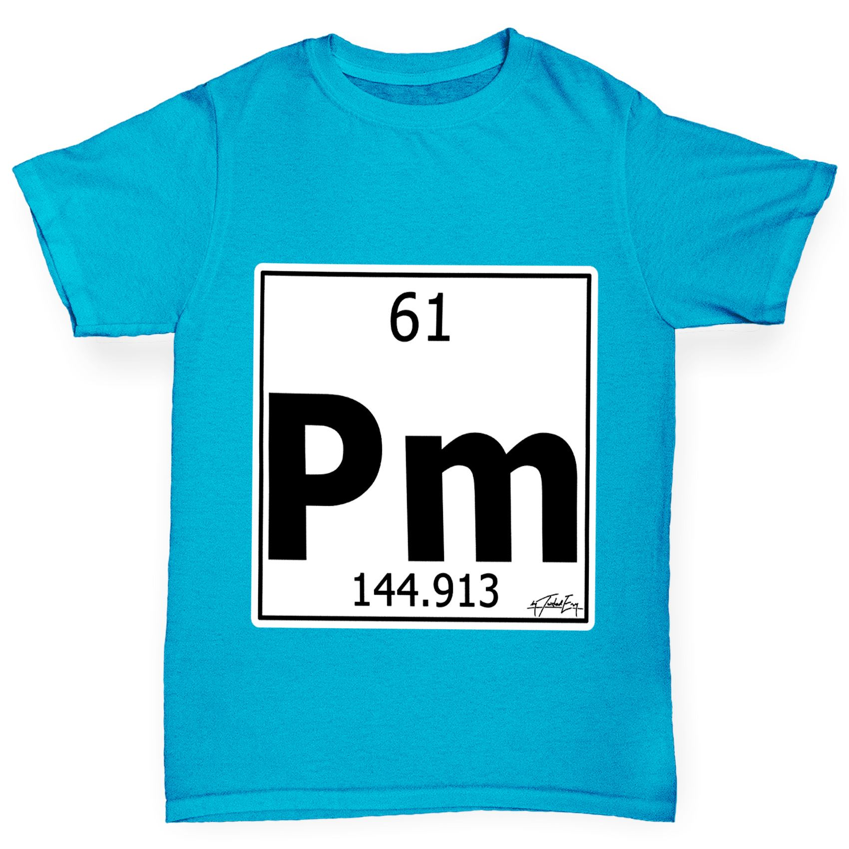 Twisted envy boys periodic table element pm promethium t shirt ebay twisted envy boy 039 s periodic table element gamestrikefo Images