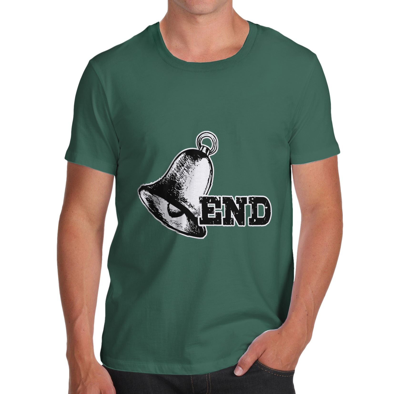 Twisted Envy Bell End Funny Pun Rude Men/'s Funny T-Shirt