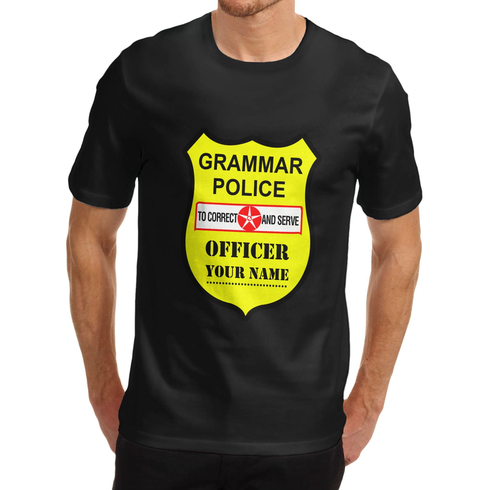 Black t shirt ebay - Twisted Envy Men 039 S Personalised Grammar Police