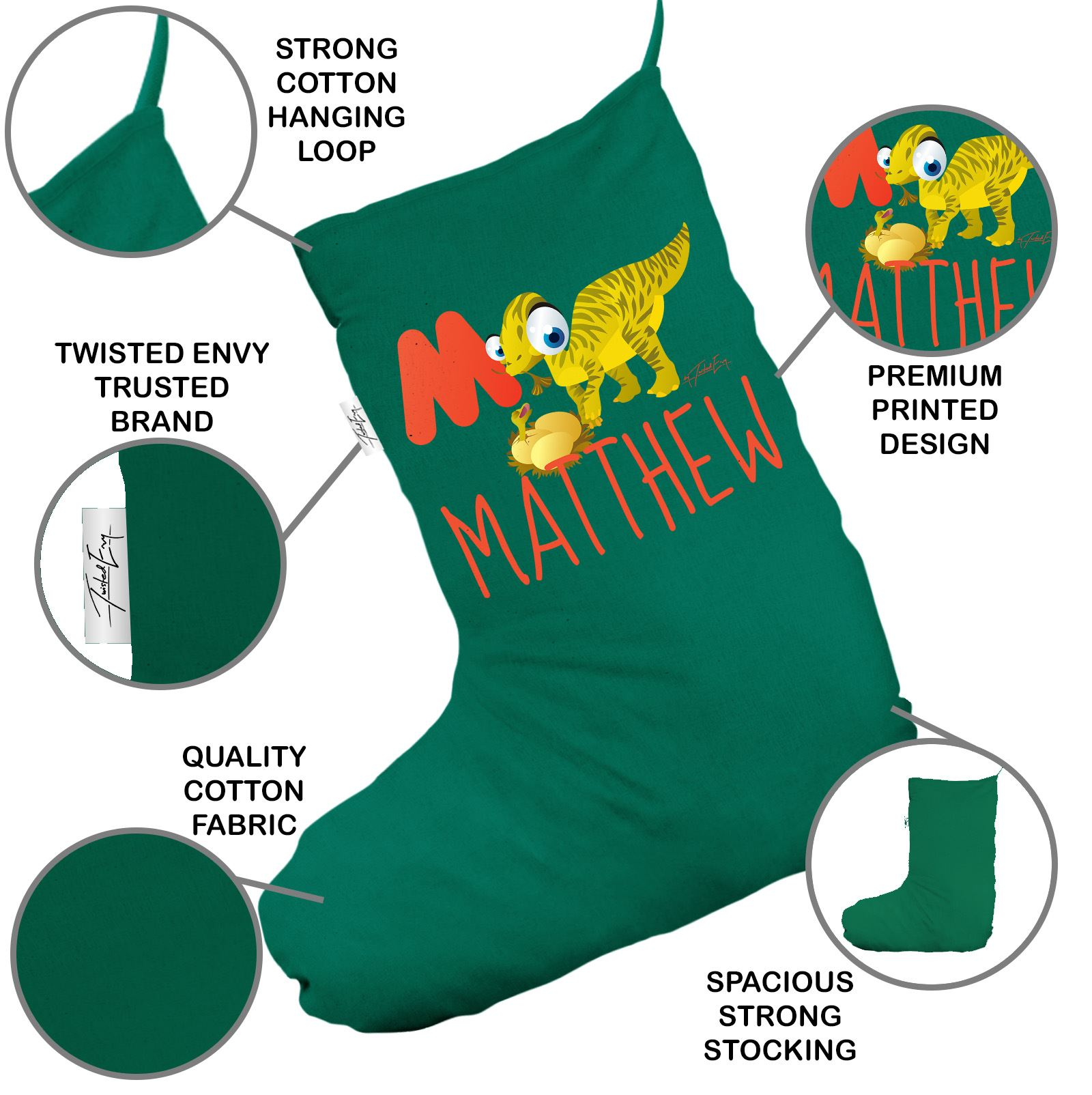 Letter Christmas Stockings.Details About Personalised Baby Dinosaur Letter M Green Santa Claus Christmas Stockings