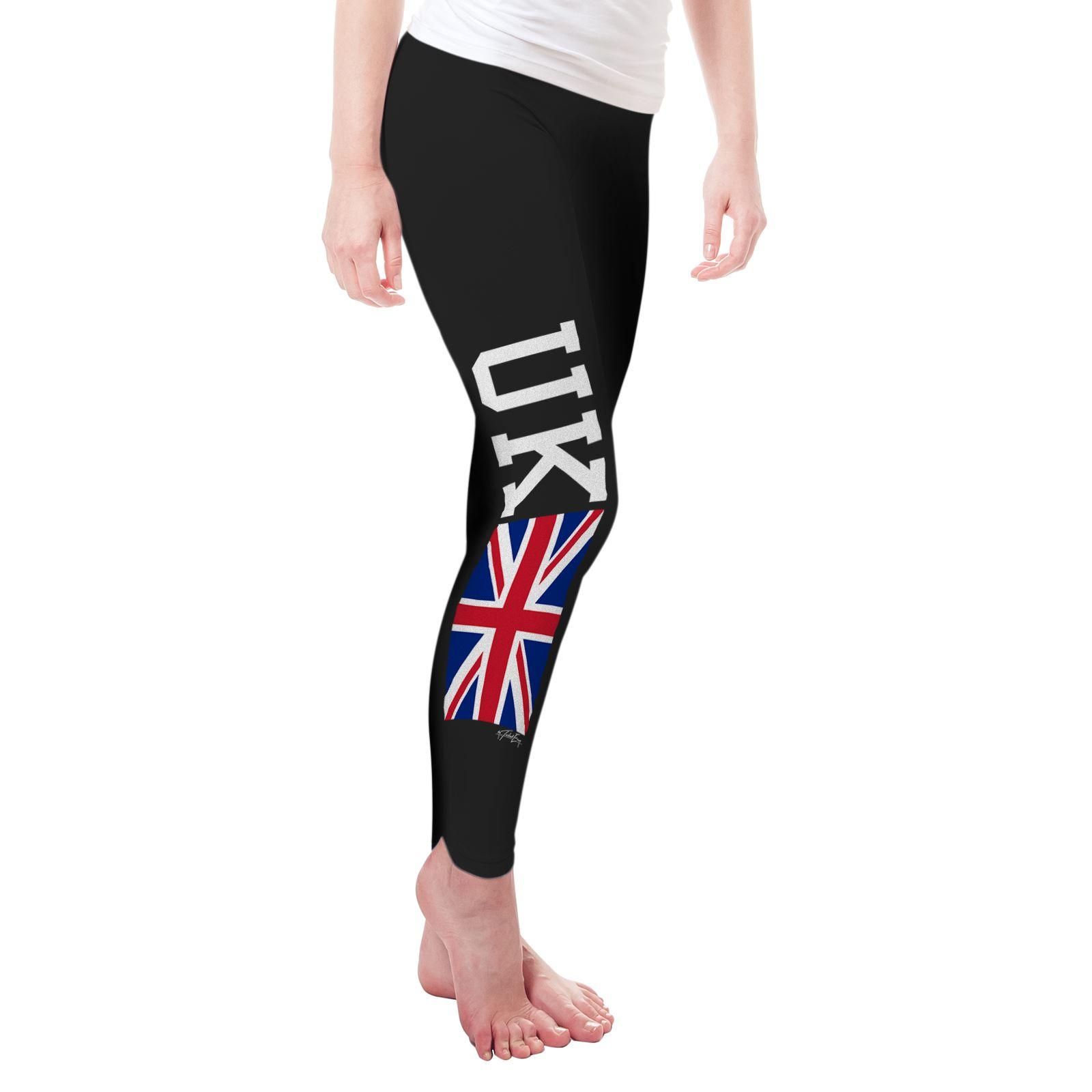 Twisted Envy UK Union Jack Flag Women/'s Funny Leggings