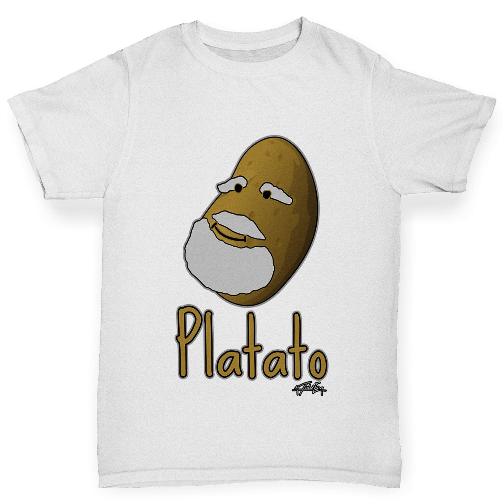 Twisted Envy Girl/'s Platato Plato Funny Cotton T-Shirt