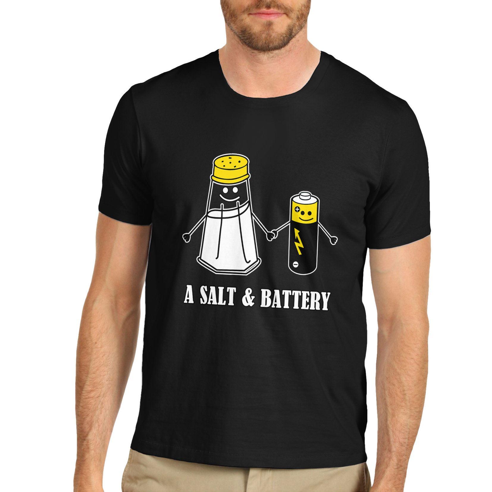 Détails sur Twisted Envy homme un sel et Batterie drôle Pun T Shirt afficher le titre d'origine