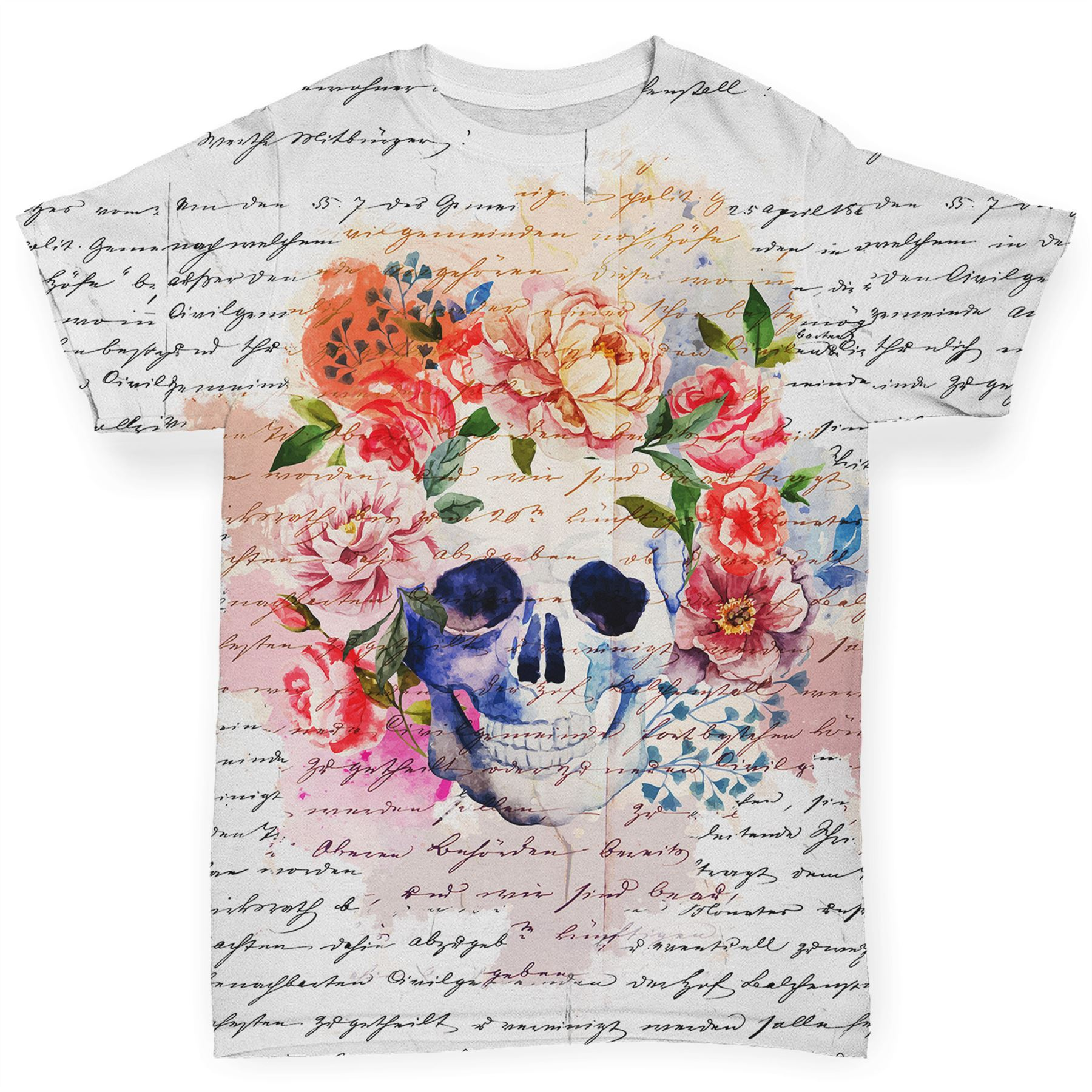 Book Print Skulls And Flowers Baby Toddler Funny ALL OVER PRINT Baby