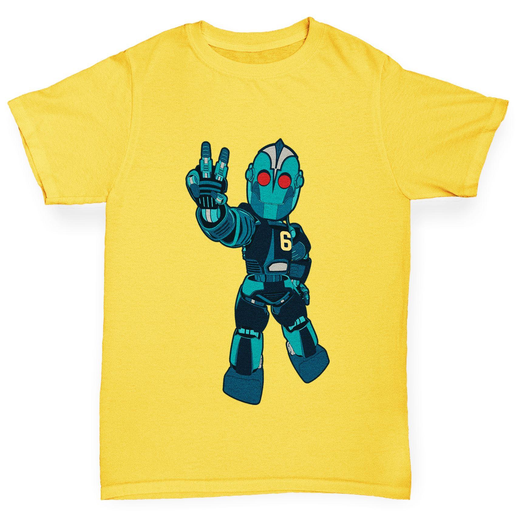 Twisted Envy Boy/'s Robot Love Cotton T-Shirt