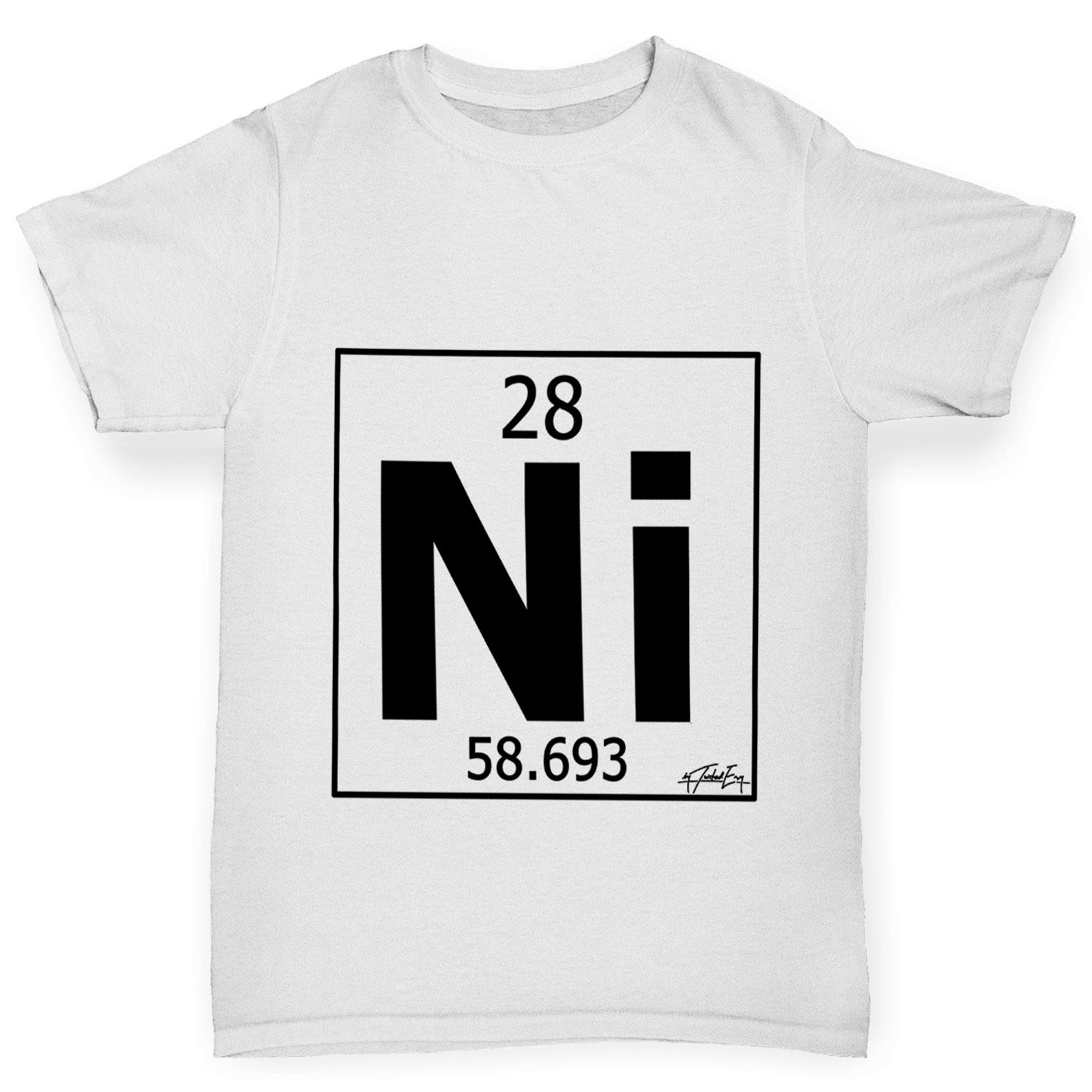 Twisted envy boys periodic table element ni nickel t shirt ebay twisted envy boy 039 s periodic table element gamestrikefo Gallery