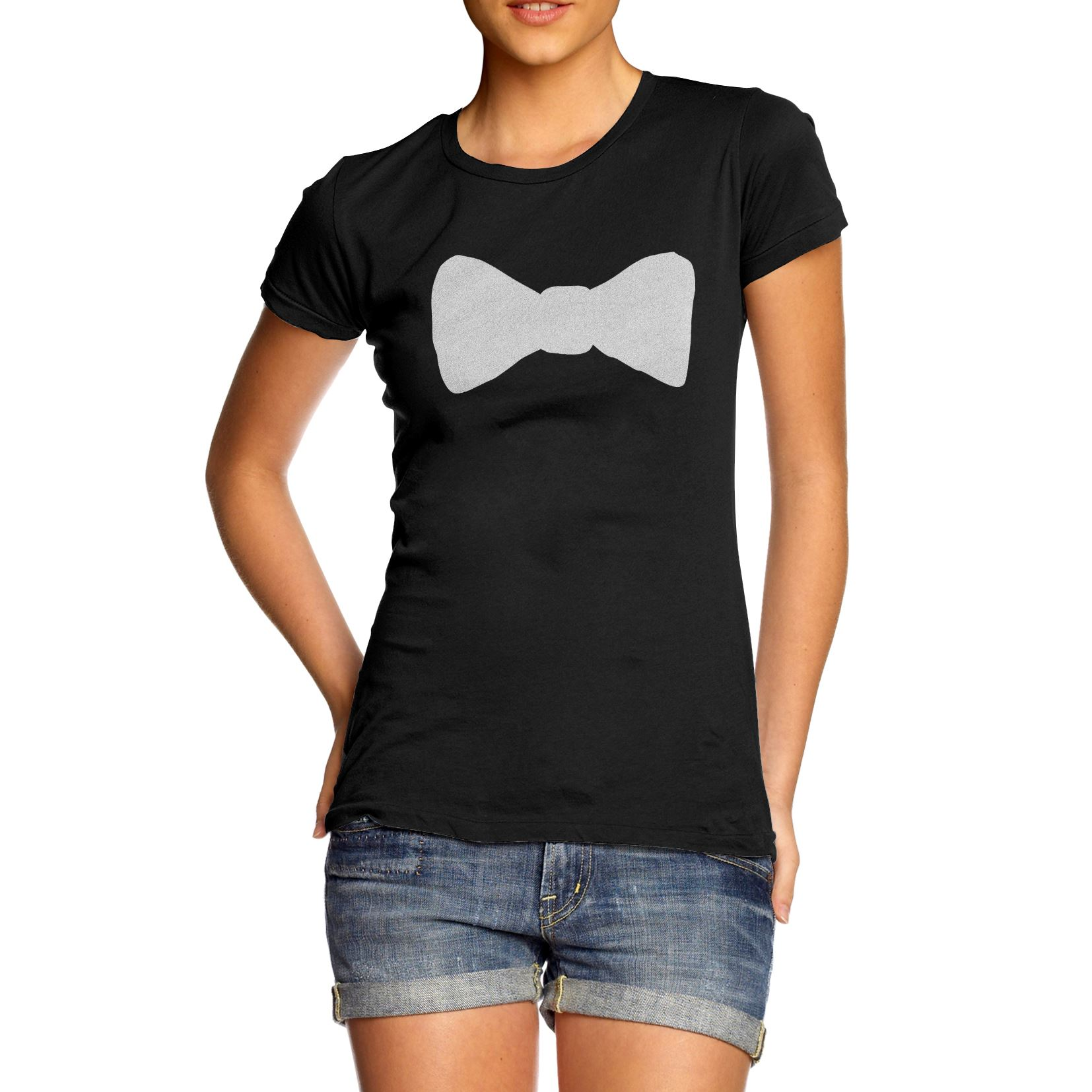 Shirt design womens - Twisted Envy Women 039 S Bow Tie Print