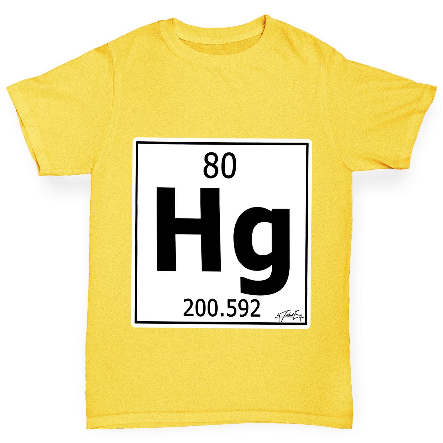 Twisted envy boys periodic table element hg mercury t shirt ebay twisted envy boy 039 s tabla periodica elemento urtaz Gallery