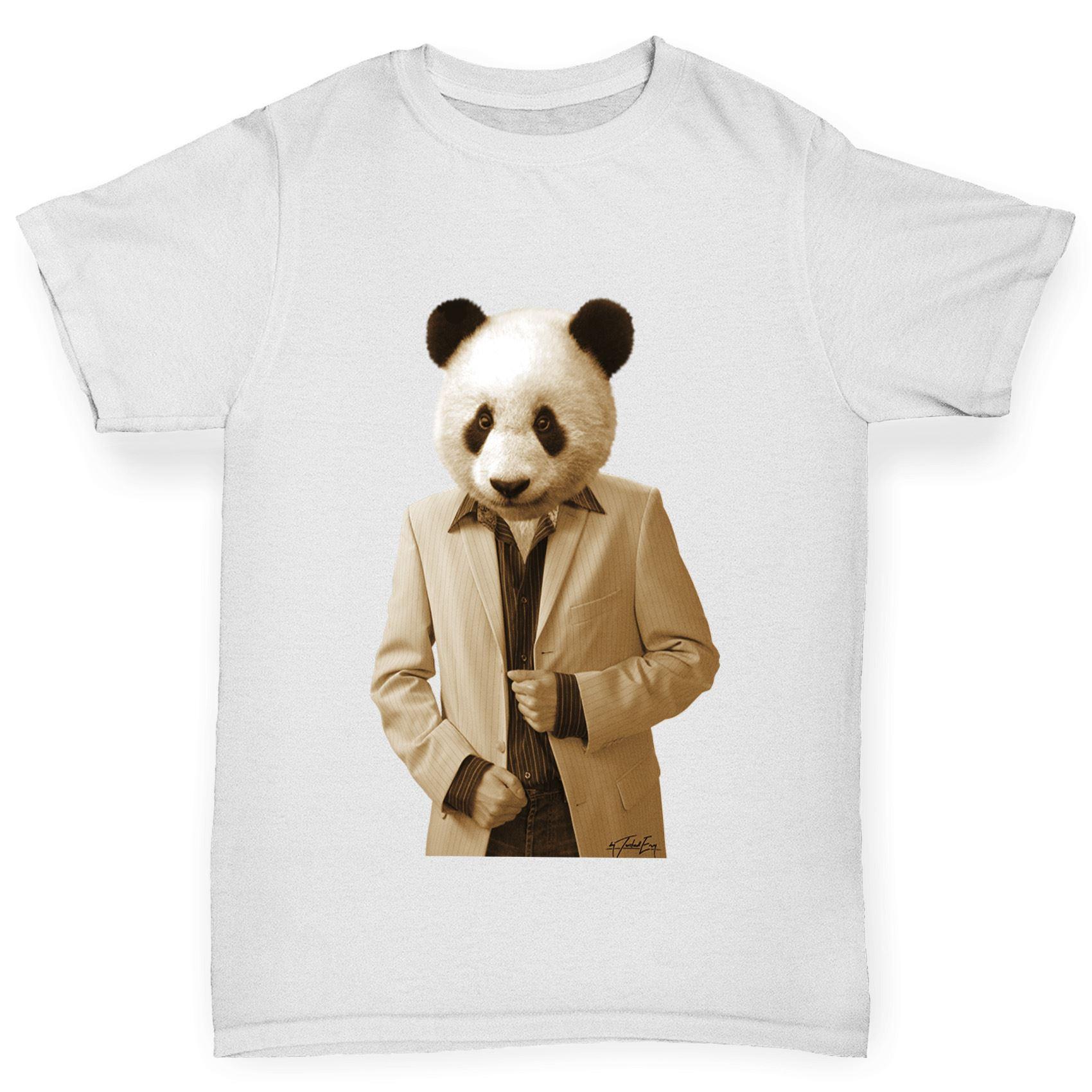 Twisted Envy Boy/'s Mr Panda 100/% Cotton T-Shirt