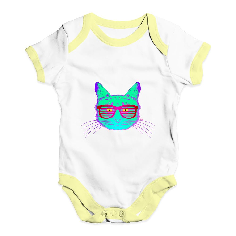 TWISTED ENVY Glam Rock Cat Baby Unisex Printed Baby Grow Bodysuit