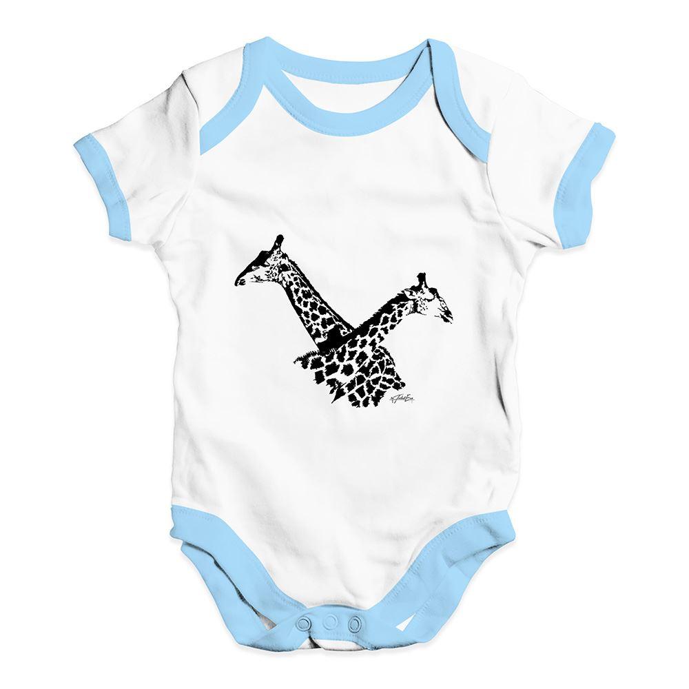 Twisted Envy Twin Giraffe Baby Unisex Funny Baby Grow Bodysuit