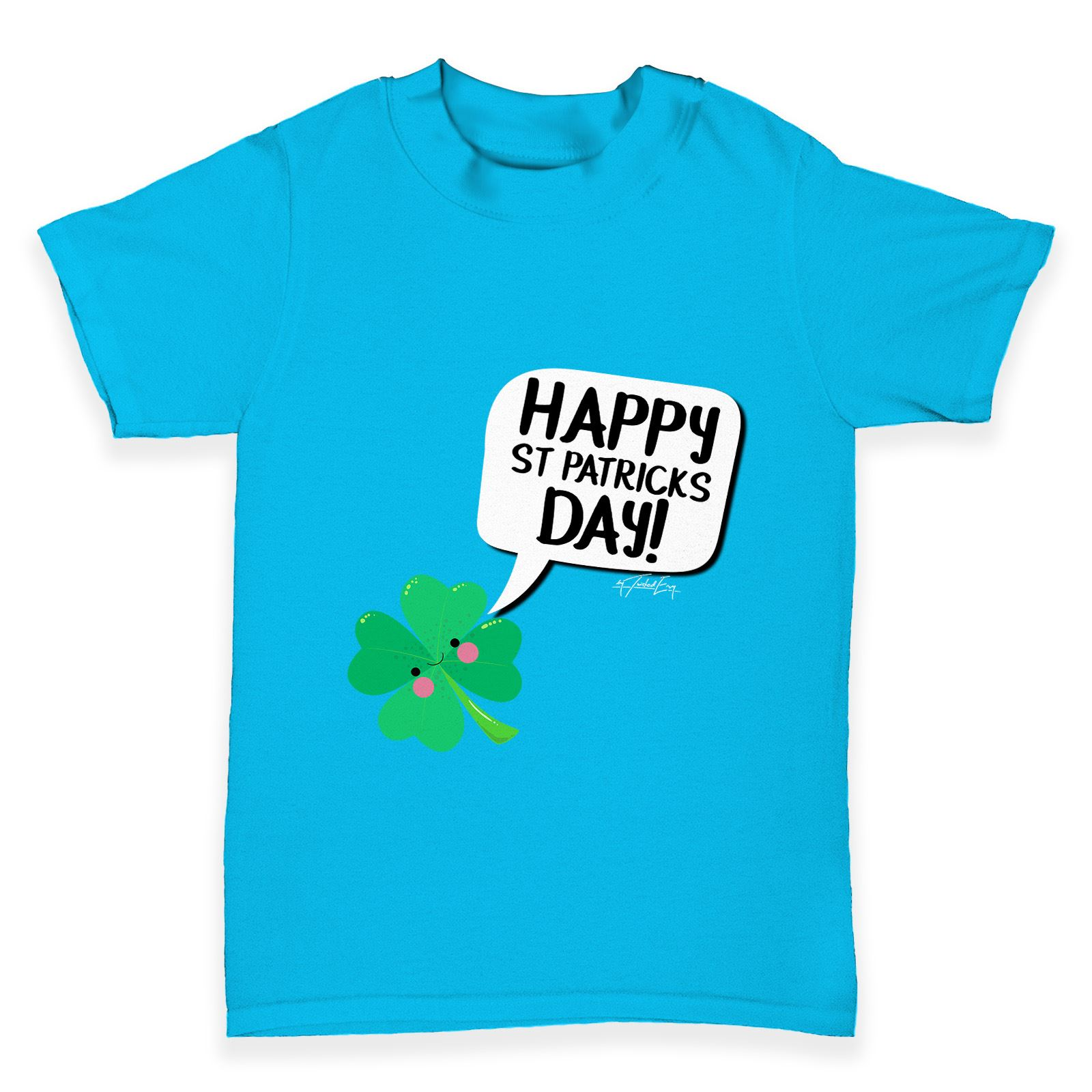 Twisted Envy Cute Clover St Patrick s Day Baby Toddler Funny T Shirt