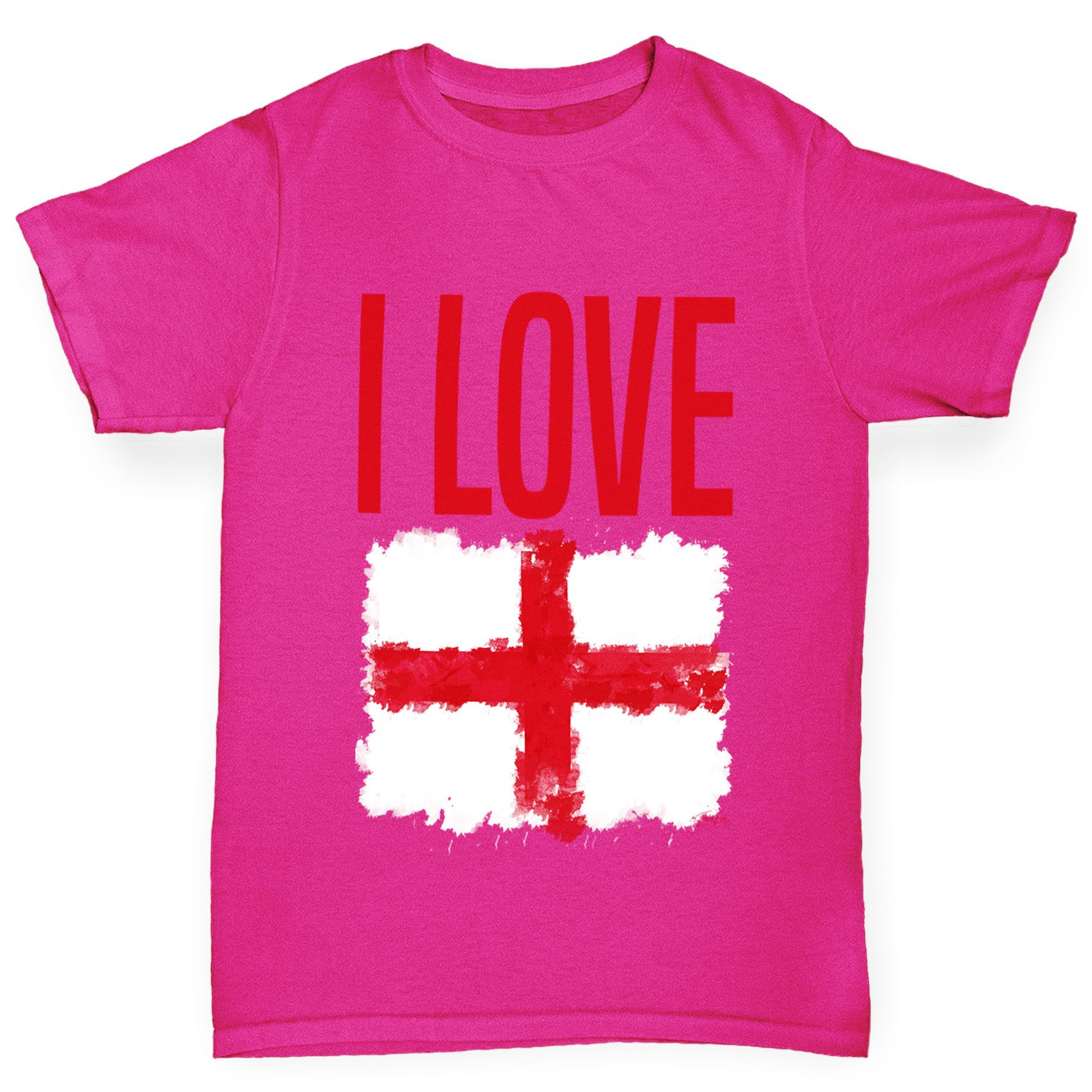 Twisted Envy Girl/'s I Love England T-Shirt