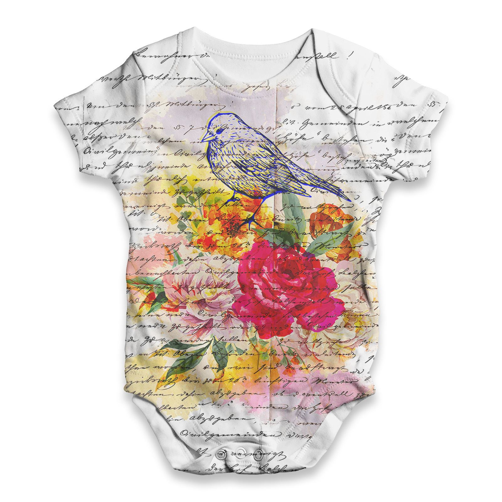 The Bird Family Tree Baby Unisex Funny ALL-OVER PRINT Baby Grow Bodysuit
