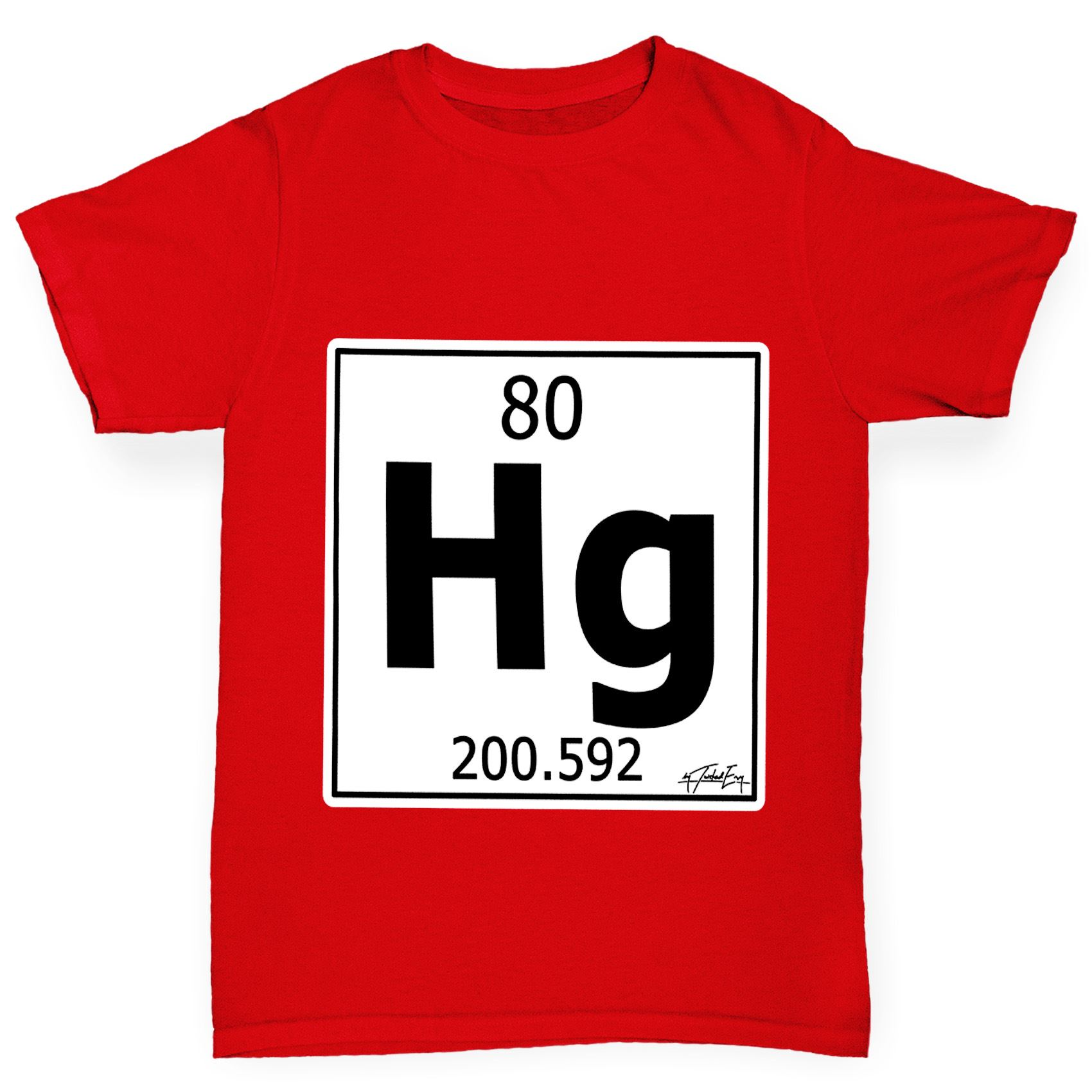 Twisted envy boys periodic table element hg mercury t shirt ebay twisted envy boy 039 s periodic table element gamestrikefo Image collections