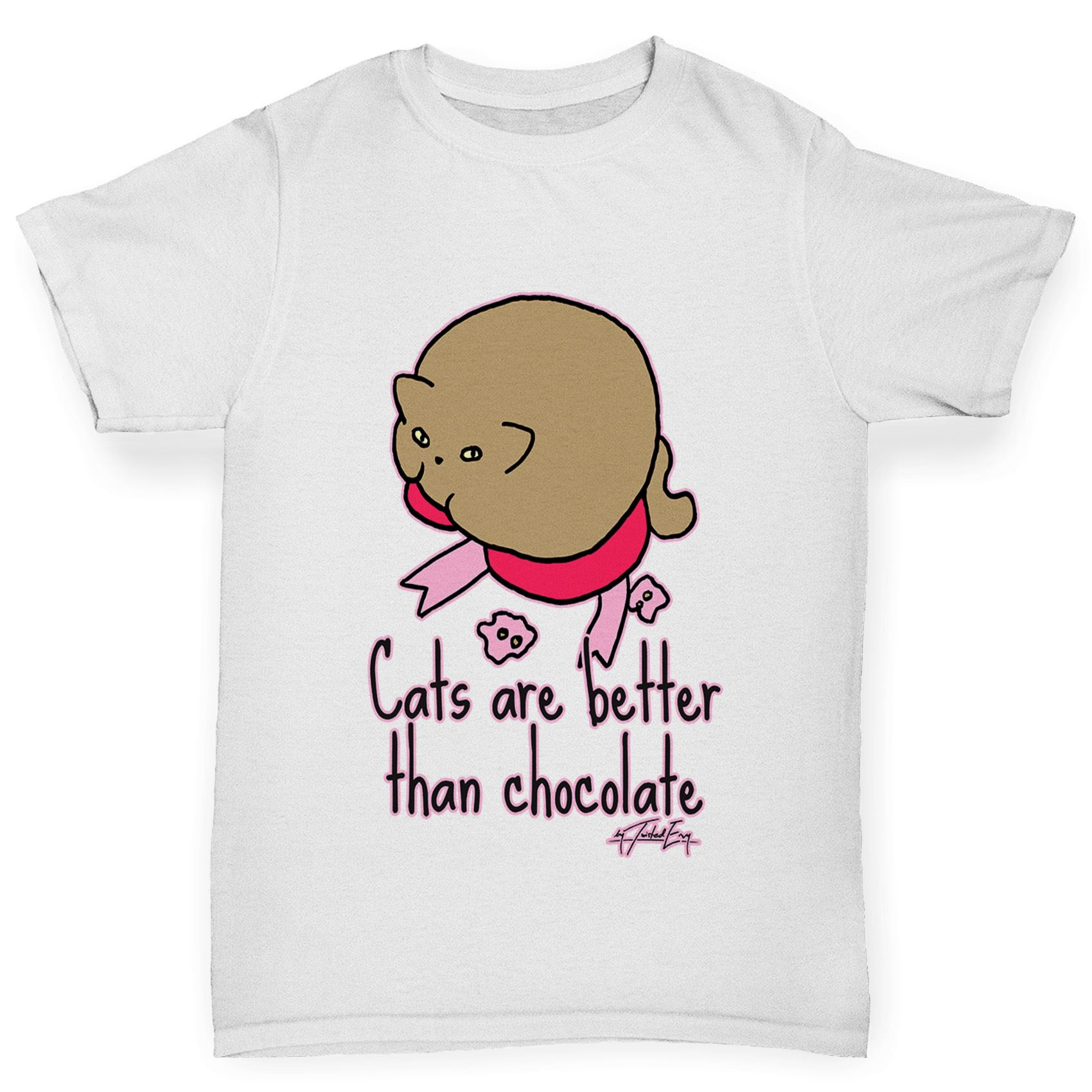 Twisted Envy Boy's Cats Are Better Than Chocolate T-Shirt