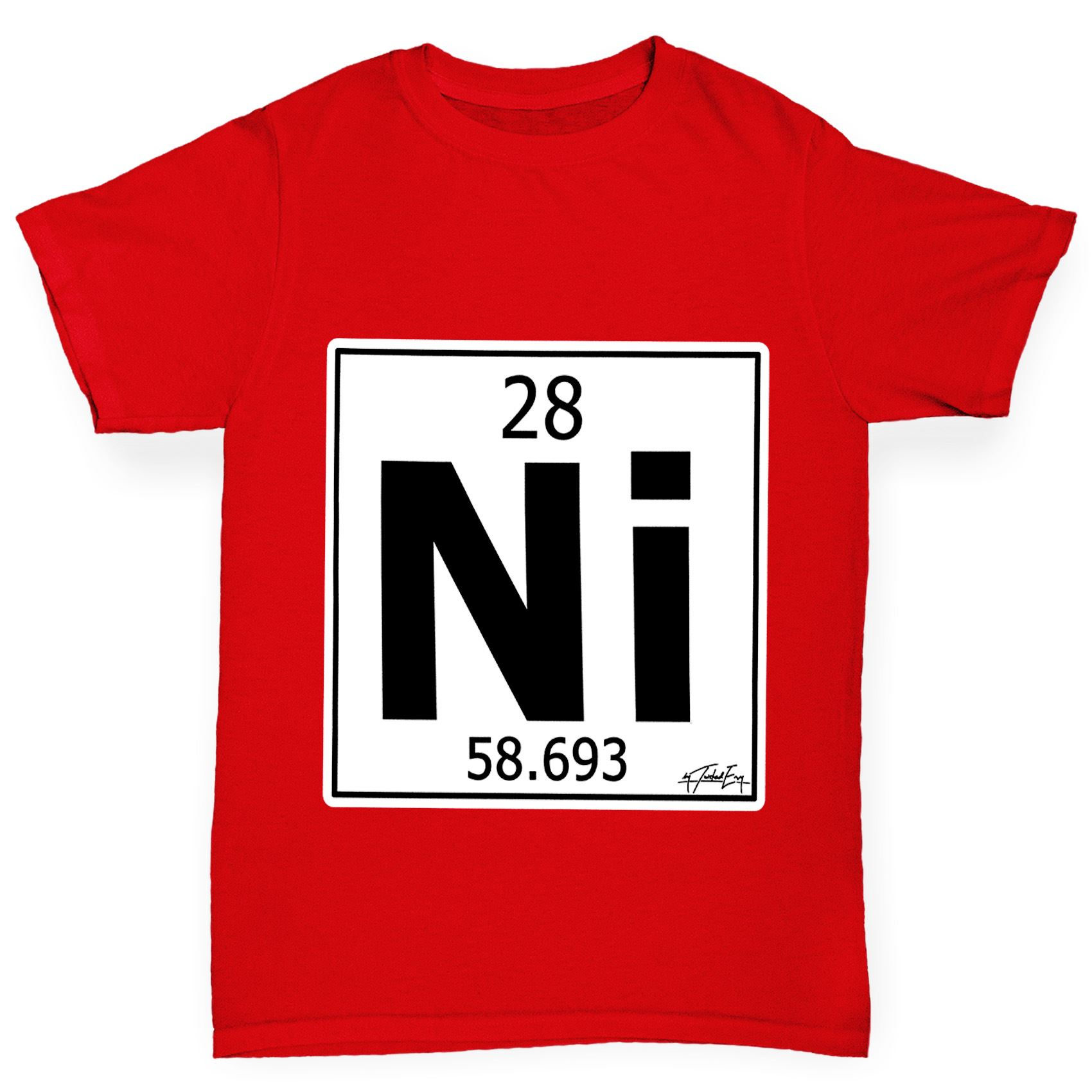 Twisted envy boys periodic table element ni nickel t shirt ebay twisted envy boy 039 s periodic table element gamestrikefo Image collections
