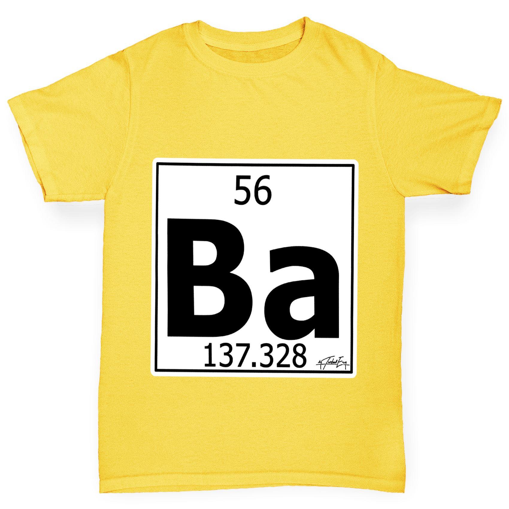 Twisted envy boys periodic table element ba barium t shirt ebay twisted envy boy 039 s tabla periodica elemento urtaz Images