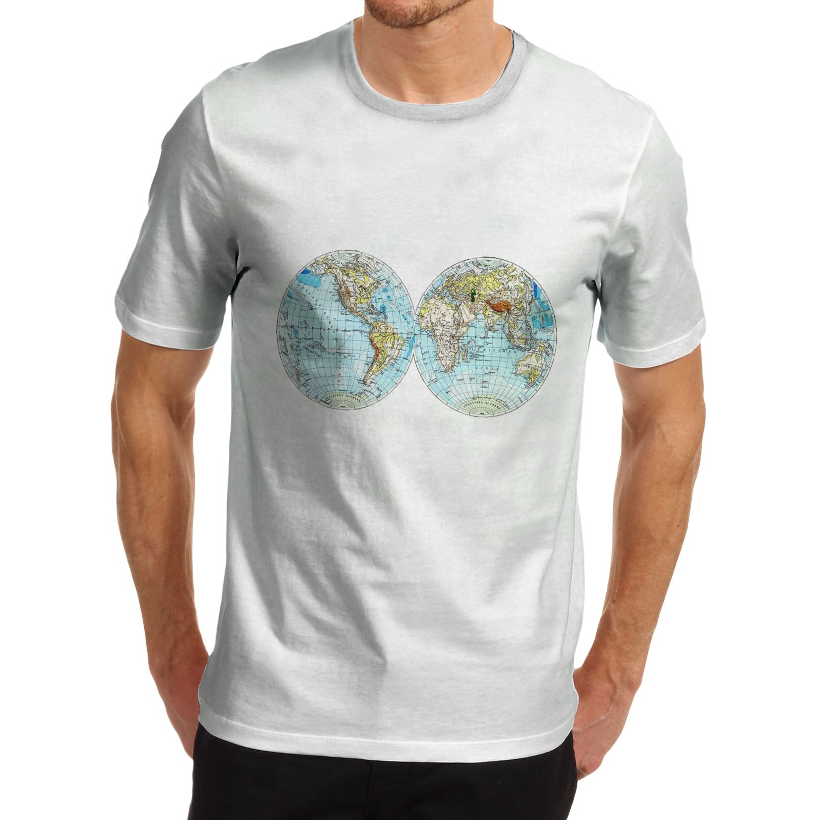 Mens atlas world map educational vintage print t shirt ebay men 039 s atlas world map educational vintage gumiabroncs Image collections