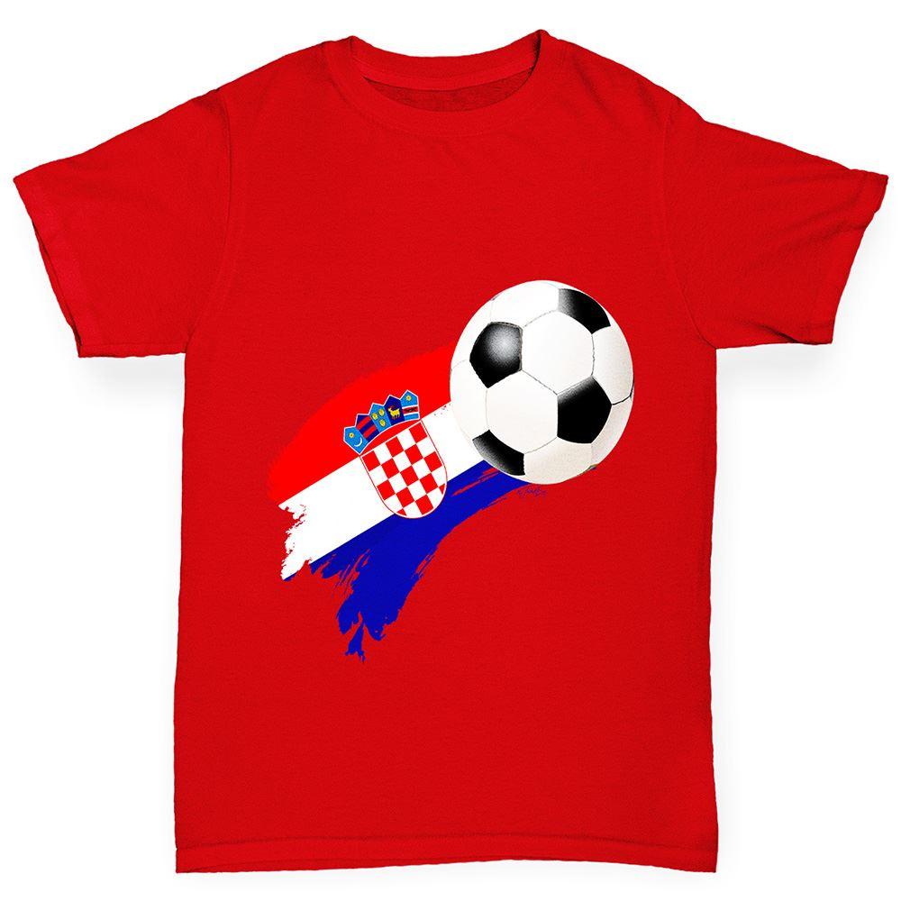 Boys Greece Football Flag Paint Splat Cotton T-Shirt Age 3-4 Dark Grey