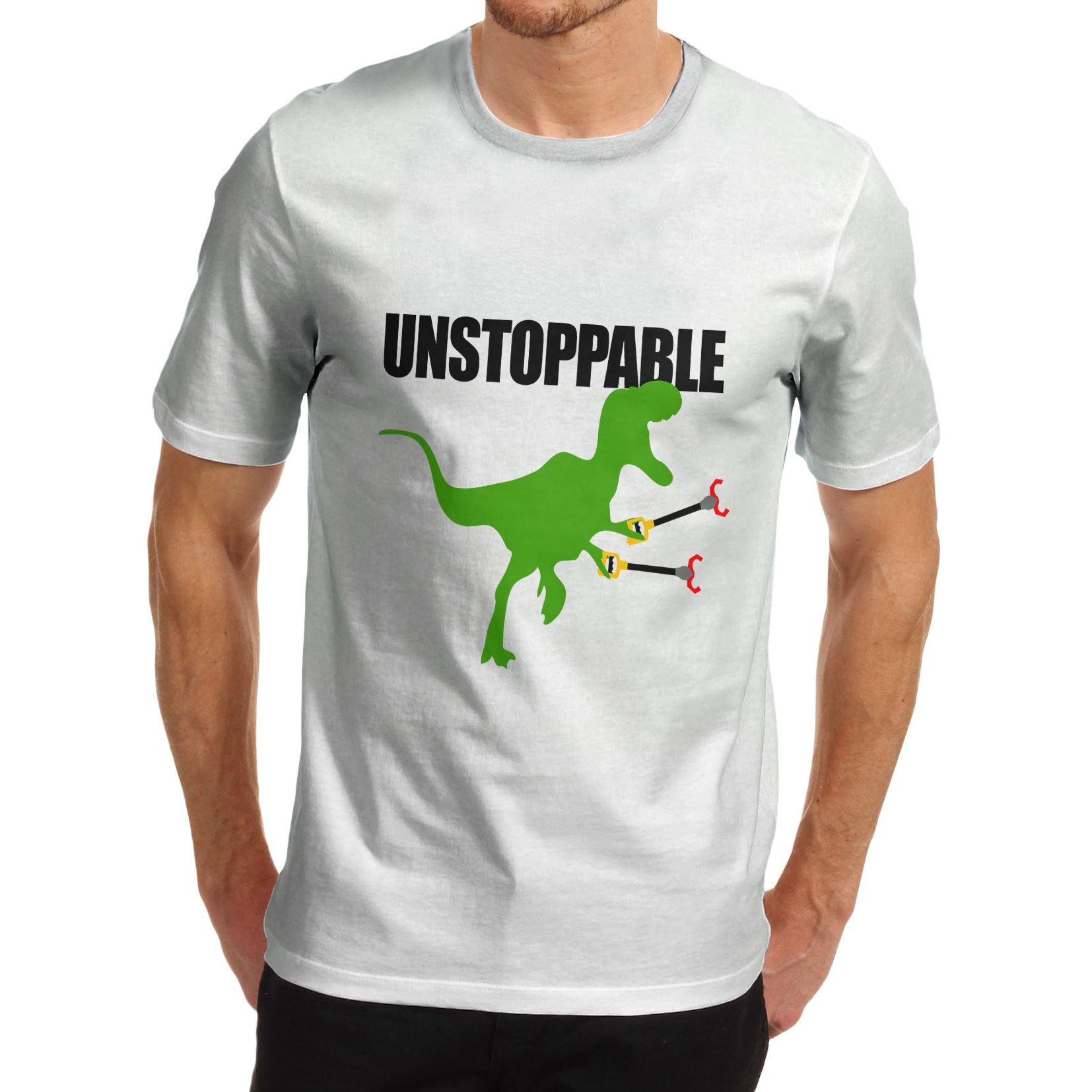 men s funny unstoppable t rex dinosaur t shirt ebay