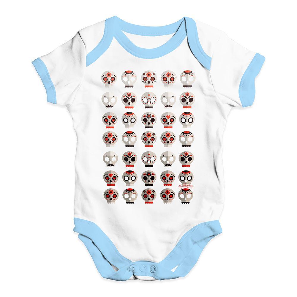 TWISTED ENVY Sugar Candy Skulls Baby Unisex Printed Baby Grow Bodysuit