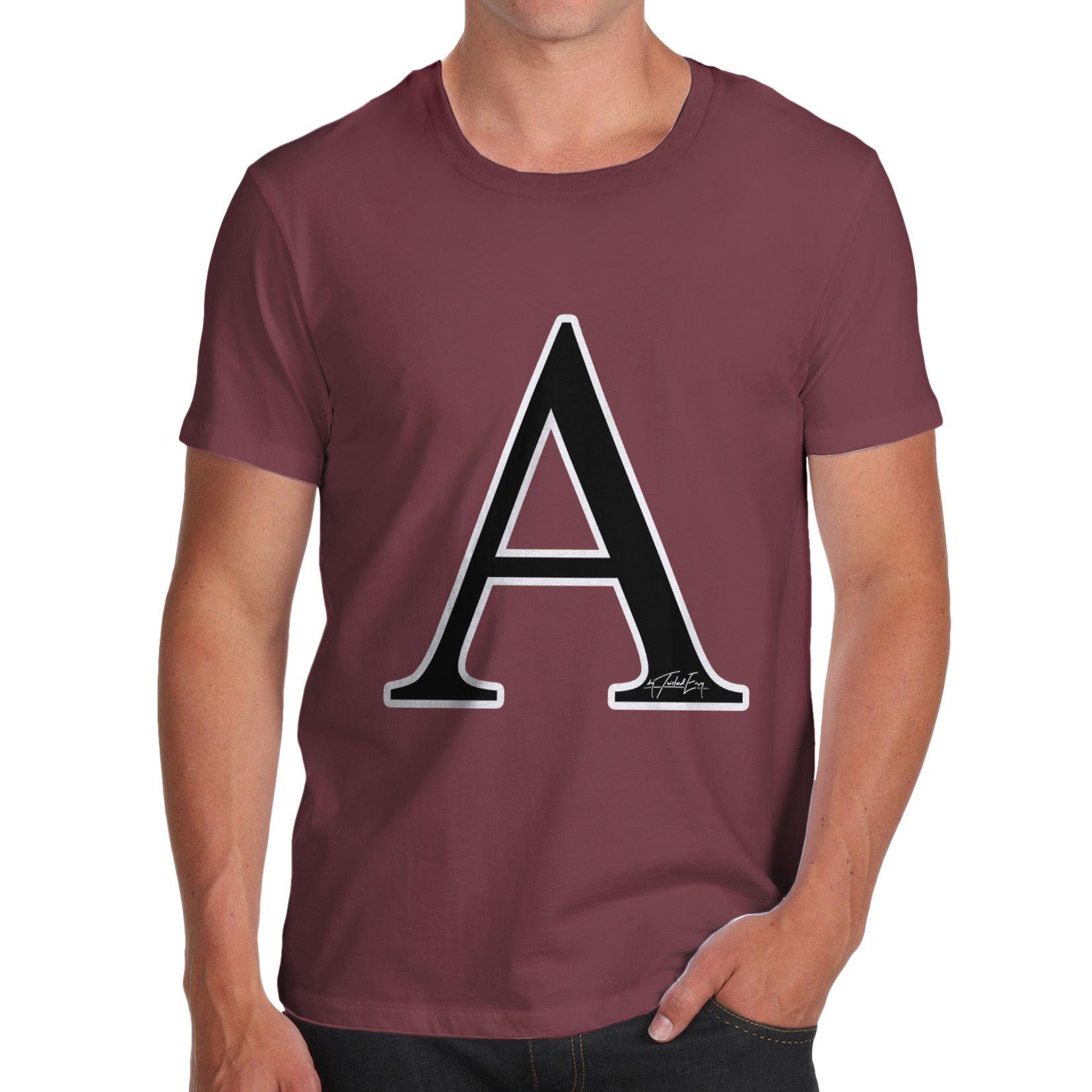 Twisted Envy Women/'s Alphabet Monogram Letter L T-Shirt