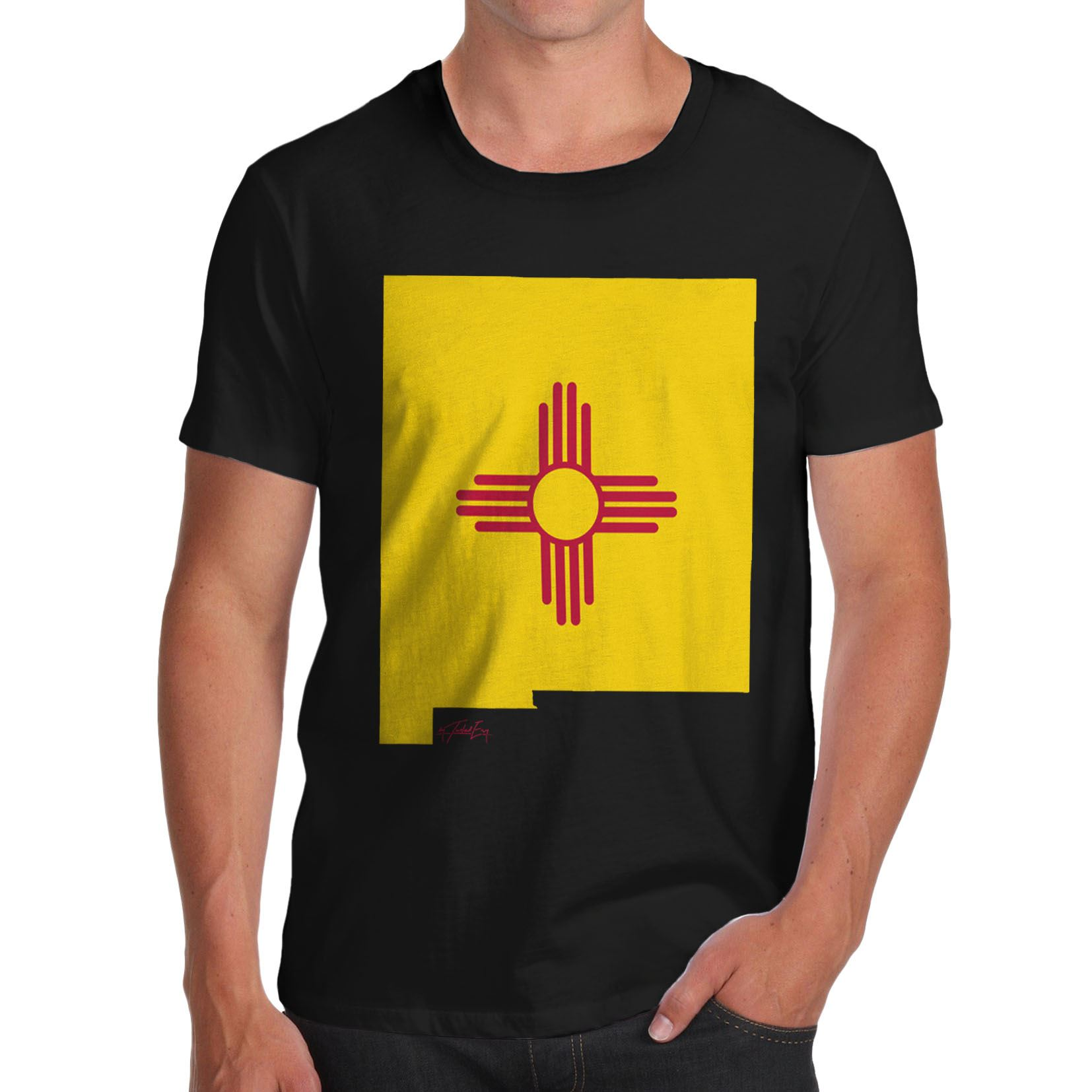 Twisted Envy Men/'s Wyoming USA State Flag Premium Cotton T-Shirt