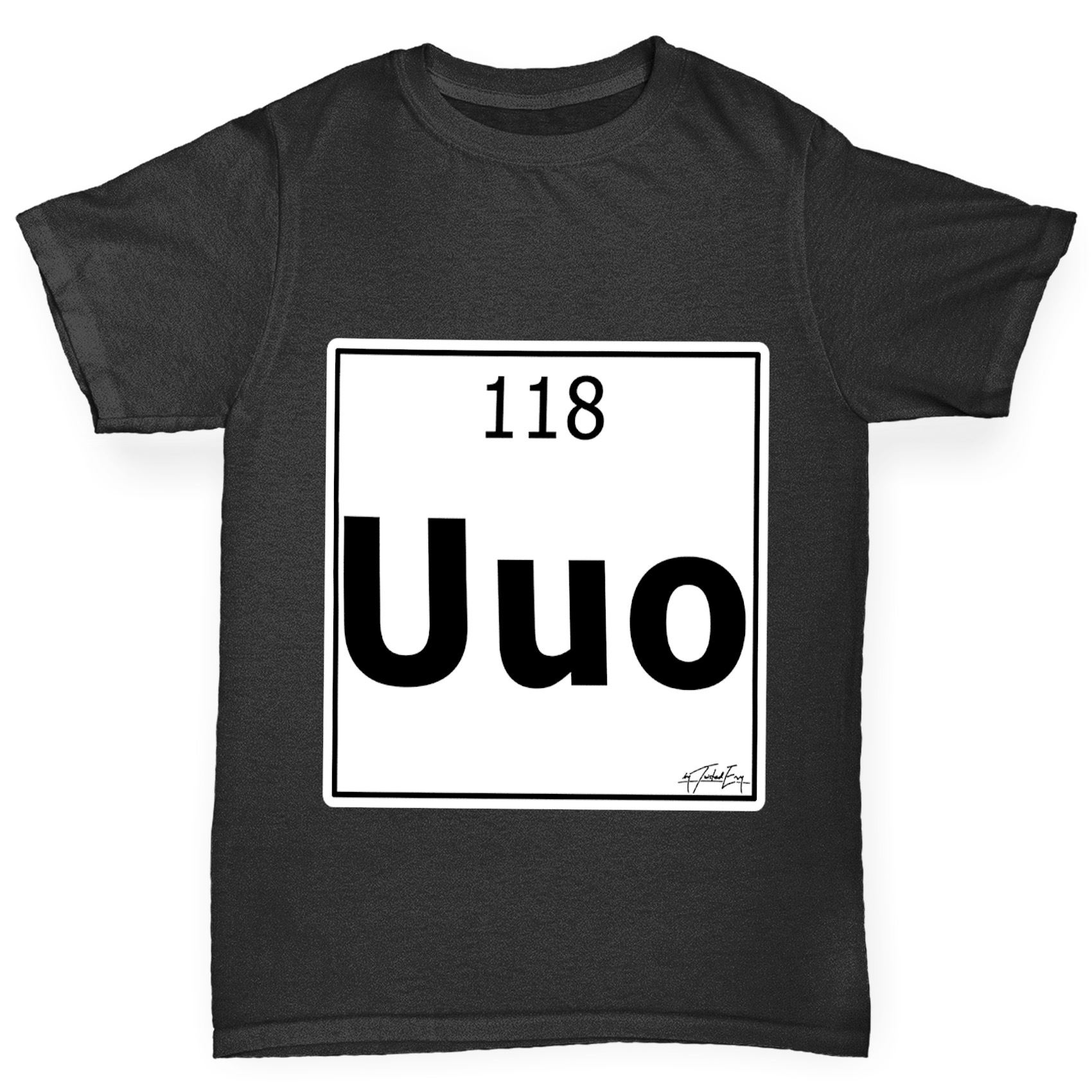 Twisted envy boys periodic table element uuo ununoctium t shirt ebay twisted envy boy 039 s periodic table element urtaz Images