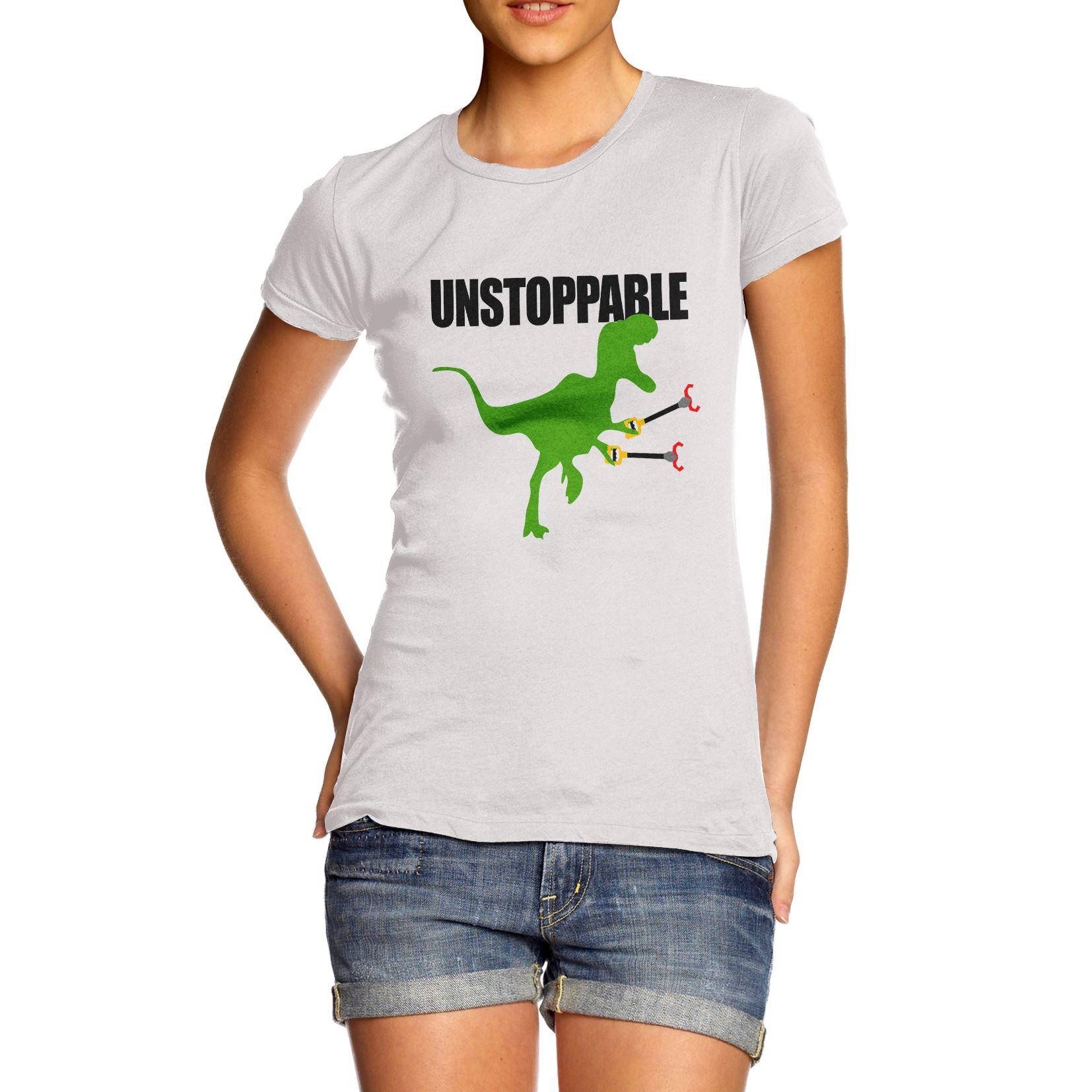 Women s Funny Unstoppable T Rex Dinosaur T-Shirt  640d134368
