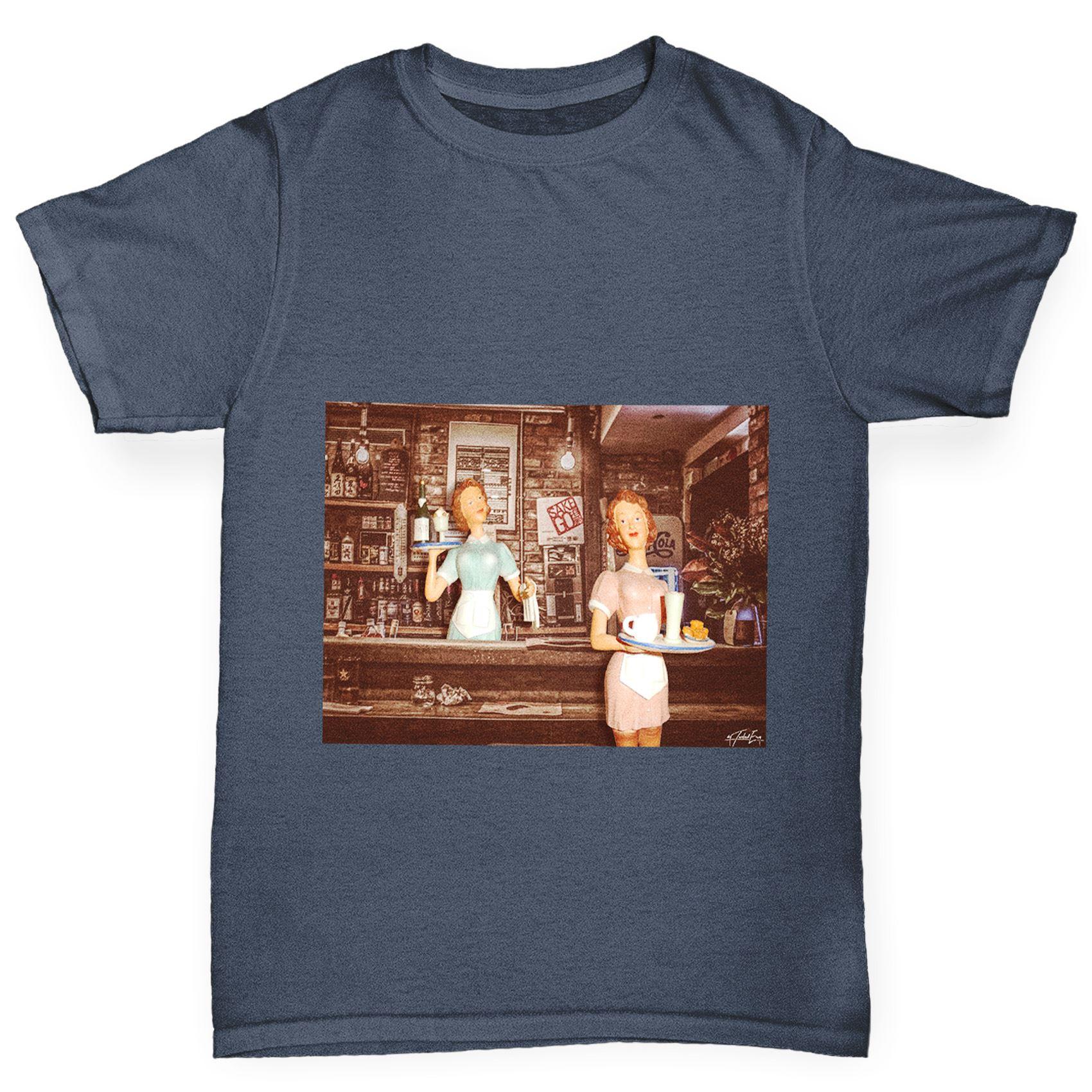 TWISTED ENVY Womens Twin Giraffe Cotton T-Shirt