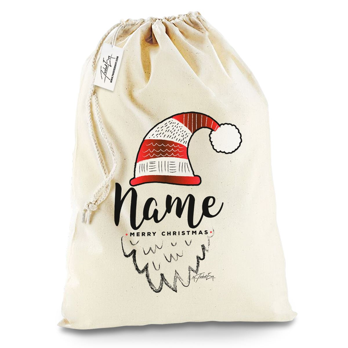 Twisted Envy Personlised A Big Pile Of Presents Personalised Santa Sack Gift Bag