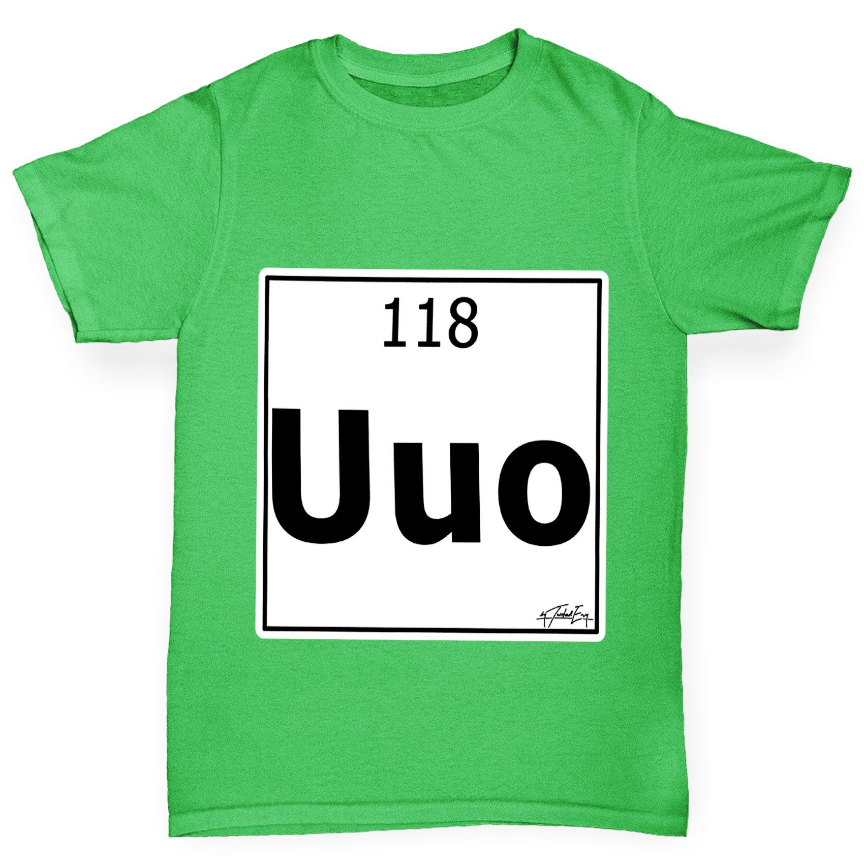 Twisted envy boys periodic table element uuo ununoctium t shirt twisted envy boy 039 s periodic table element gamestrikefo Gallery