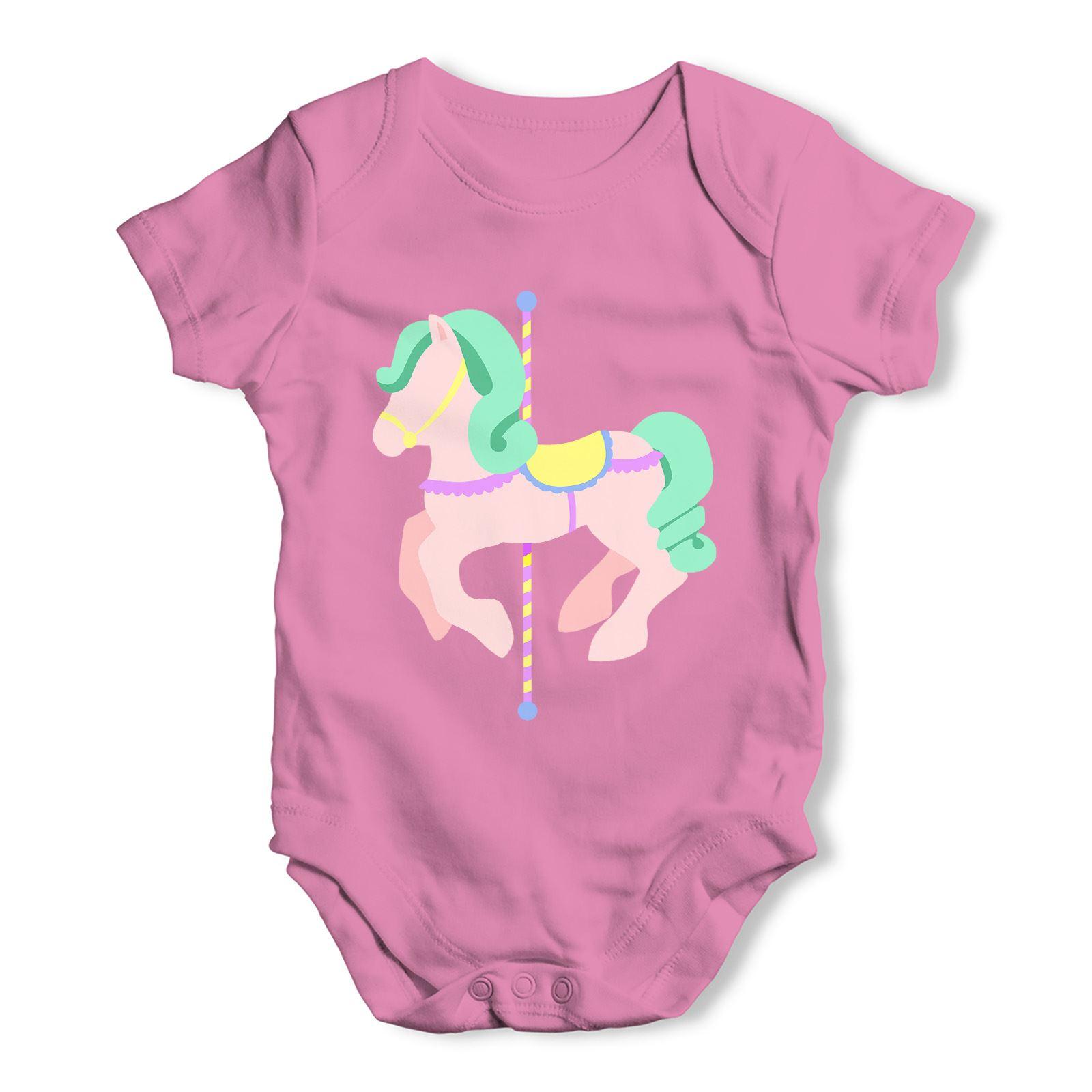 Twisted Envy Geometric Rainbow Horses Baby Unisex Funny Baby Grow Bodysuit